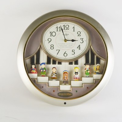 Rhythm Small World Jumping Kids Wall Clock EBTH