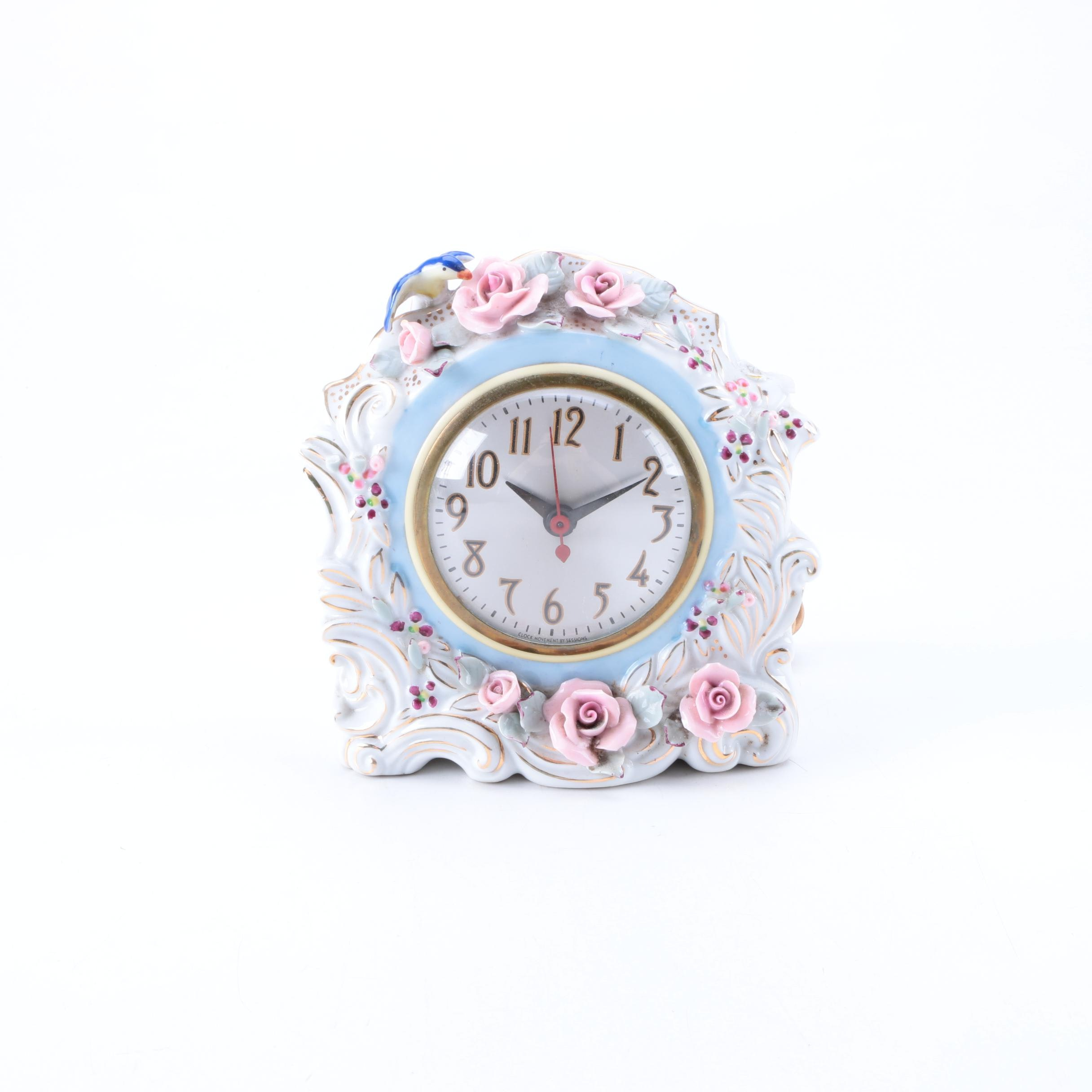 Vintage Sessions Porcelain Shelf Clock