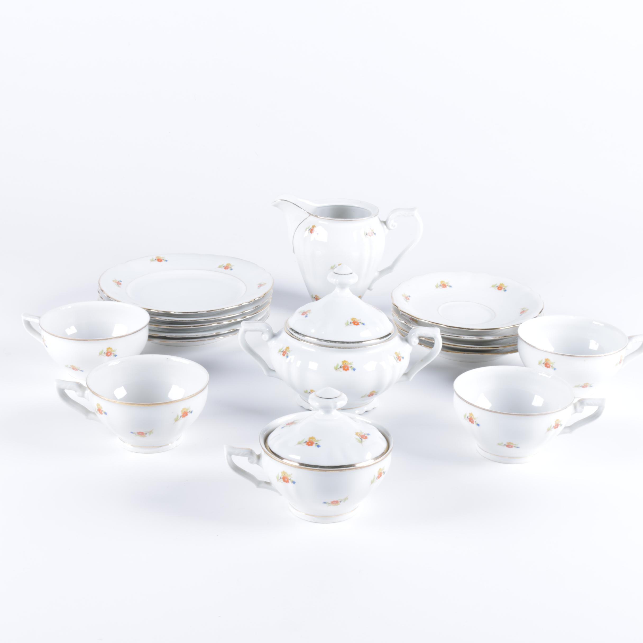 Czechoslovakian Porcelain Tea Set