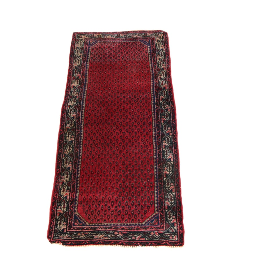 Hand Knotted Persian Wool Area Rug Ebth: Hand-Knotted Persian Serebend Wool Carpet Runner