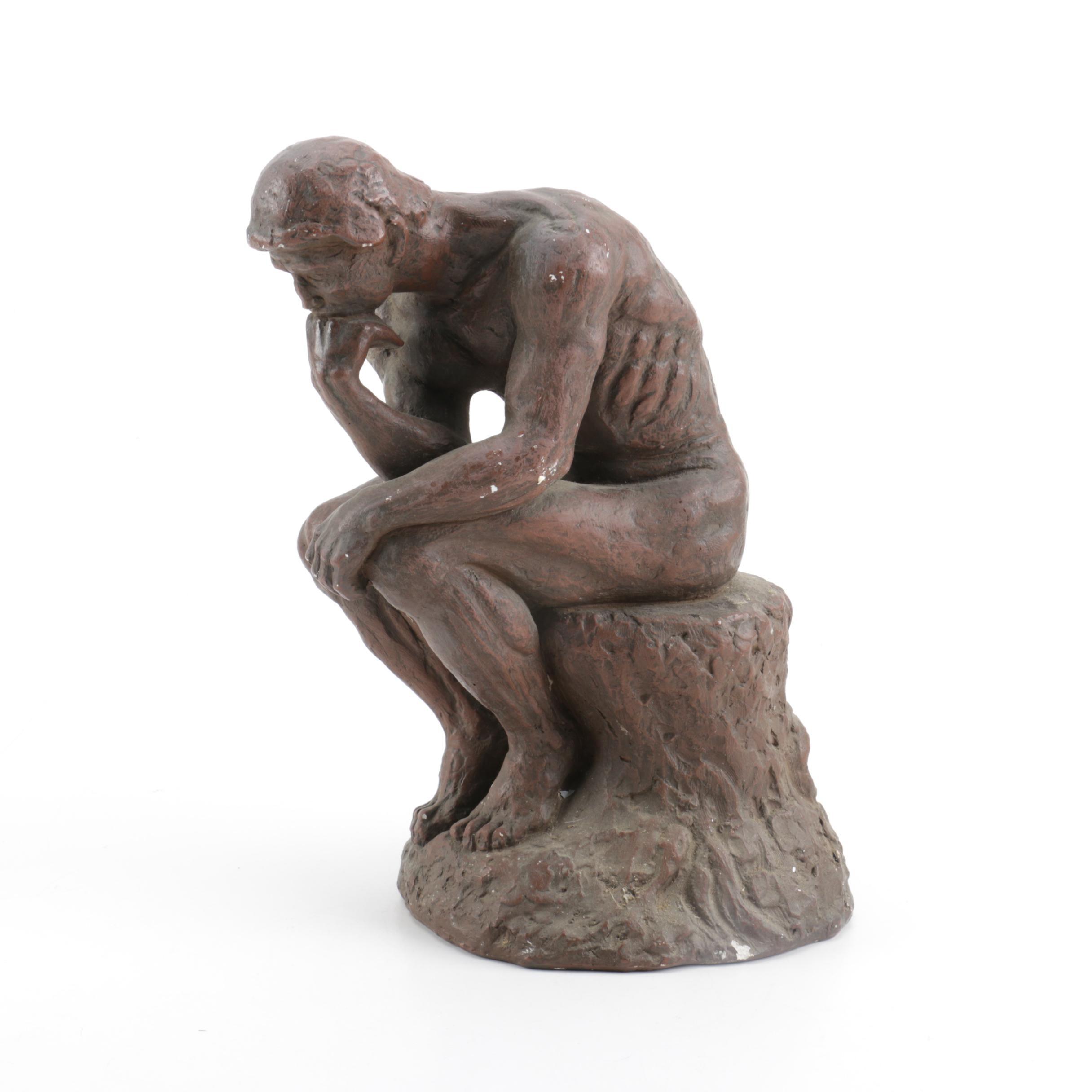 "Ceramic ""The Thinker"" Figurine"