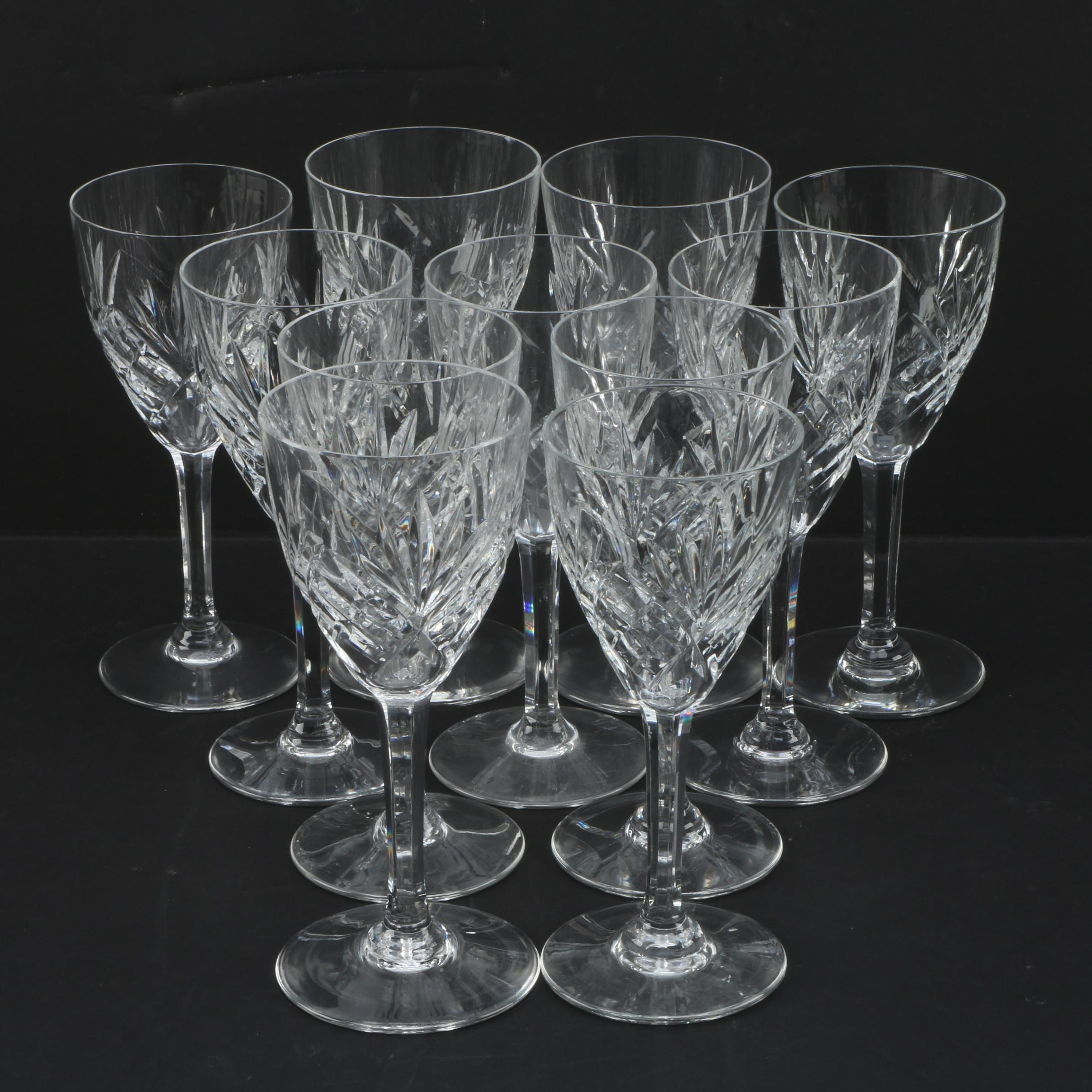 """St. Louis """"Chantilly"""" Crystal Goblets"""