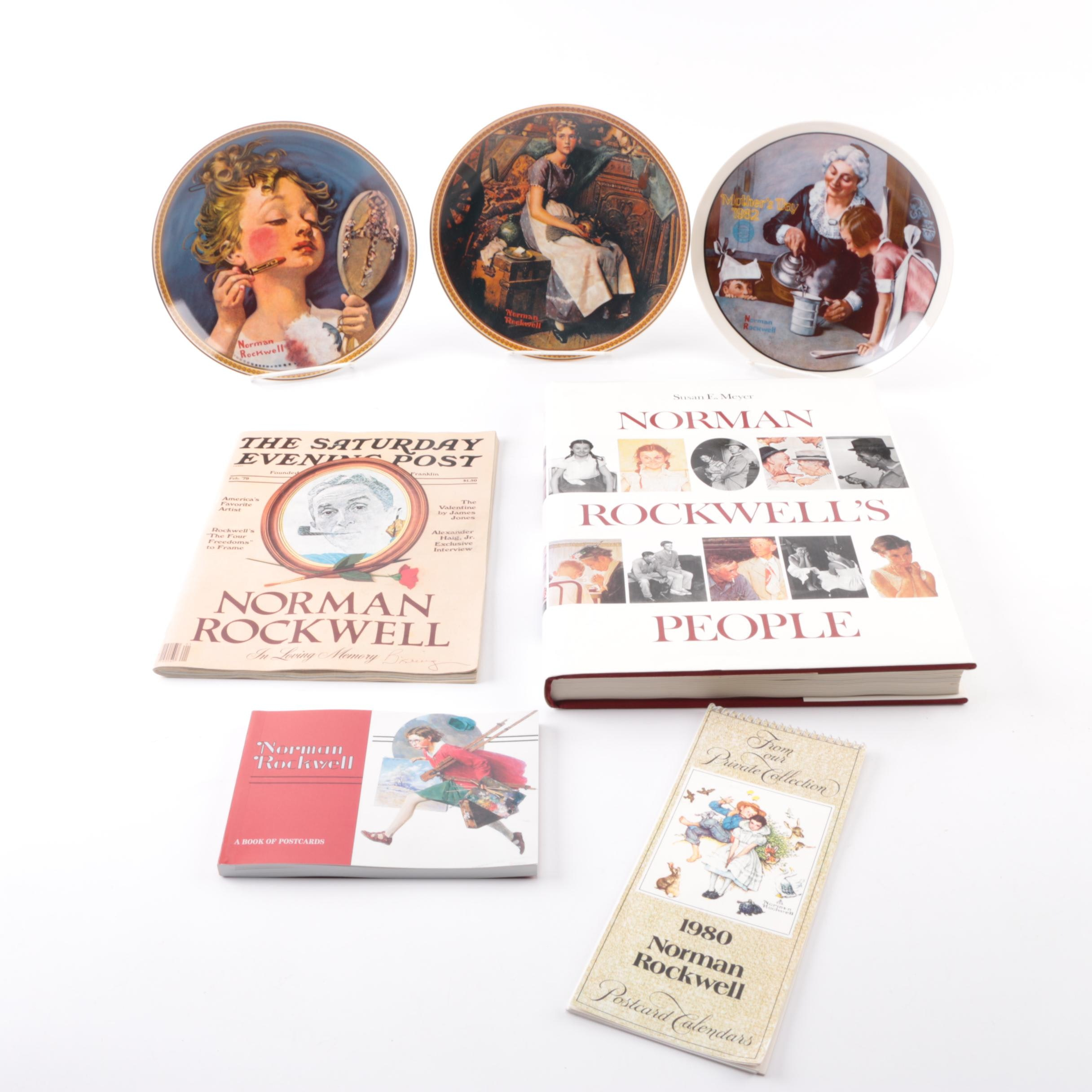 Norman Rockwell Porcelain Plates and Books