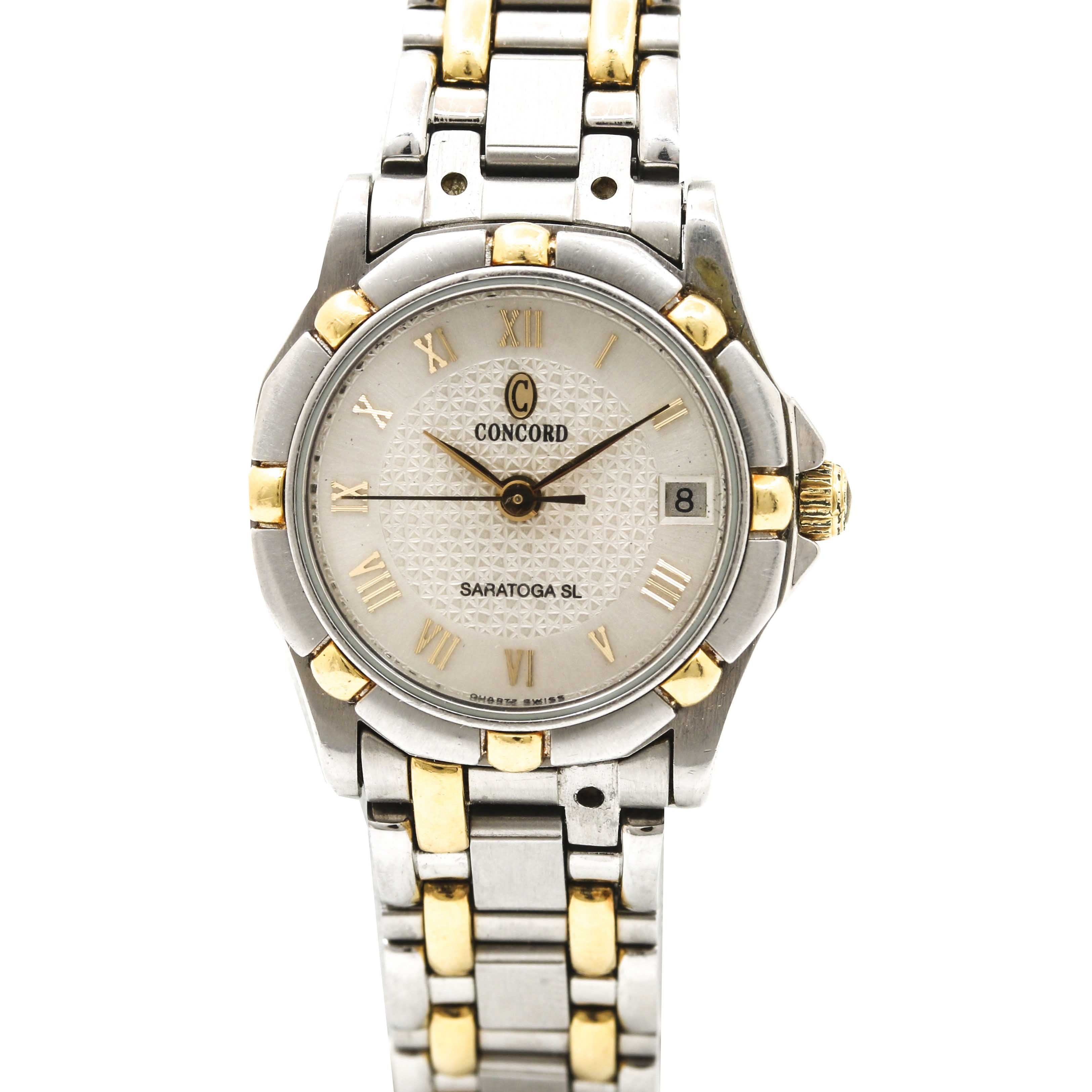 Concord 18K Yellow Gold and Stainless Steel Wristwatch