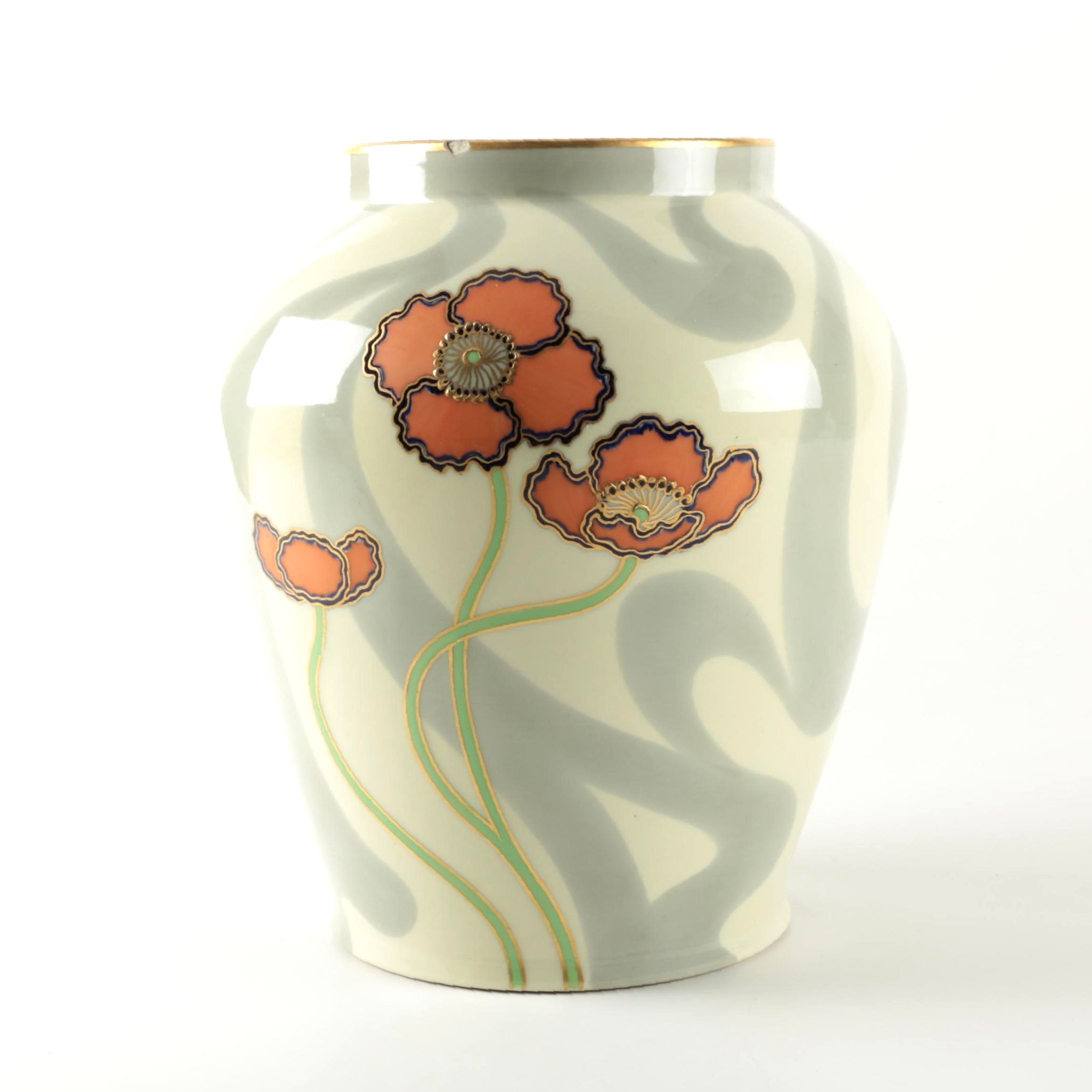 Antique Ernst Wahliss Turn Teplitz Porcelain Vase