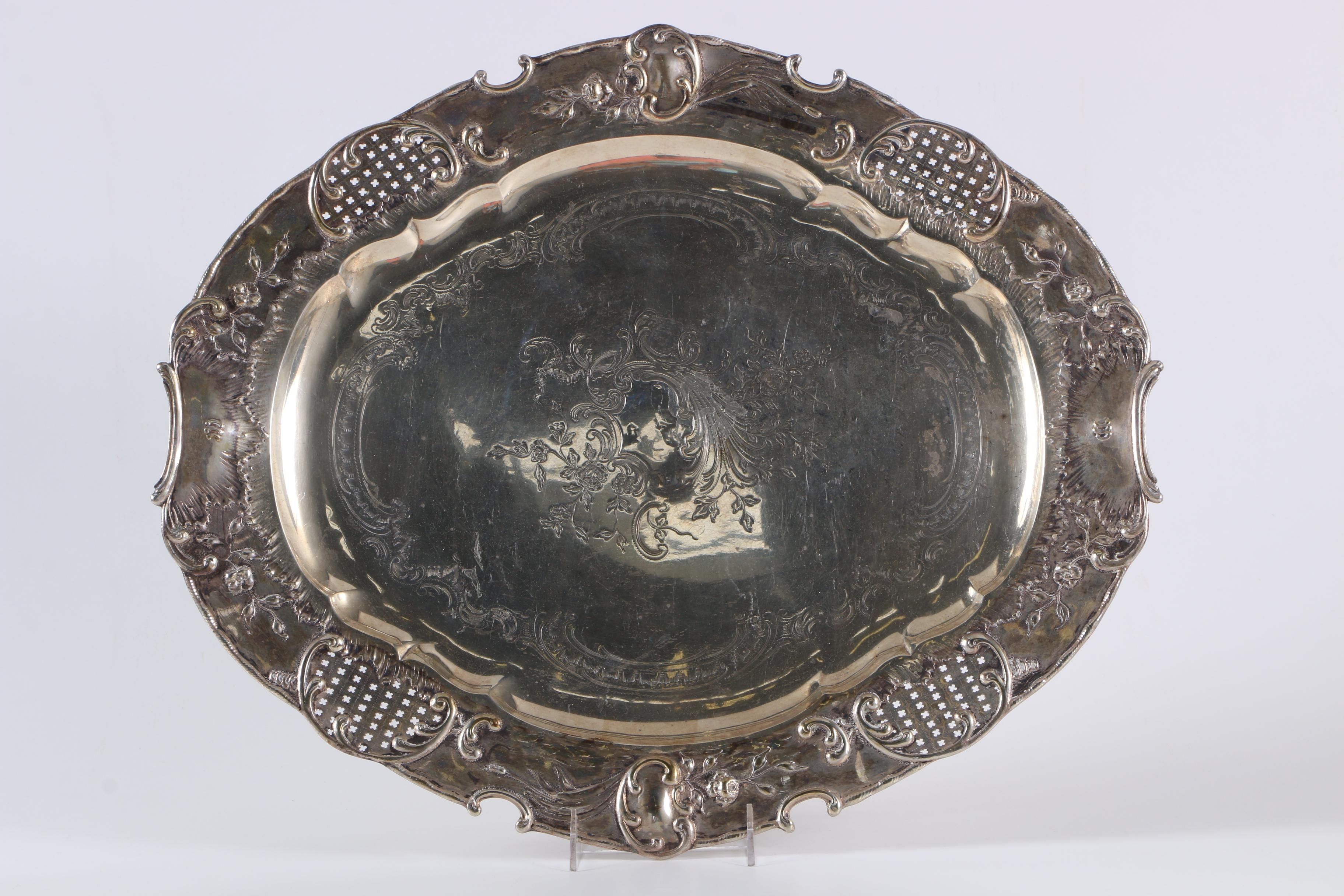 Russian 875 Silver Serving Tray