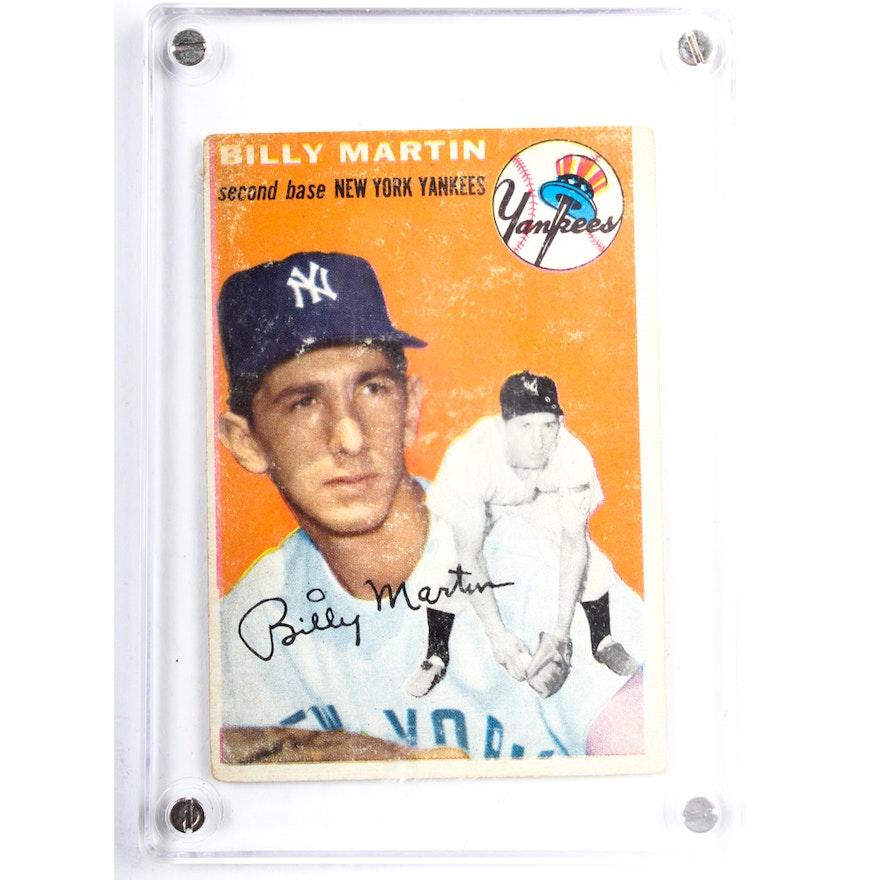 1954 Topps Billy Martin Yankees Baseball Card