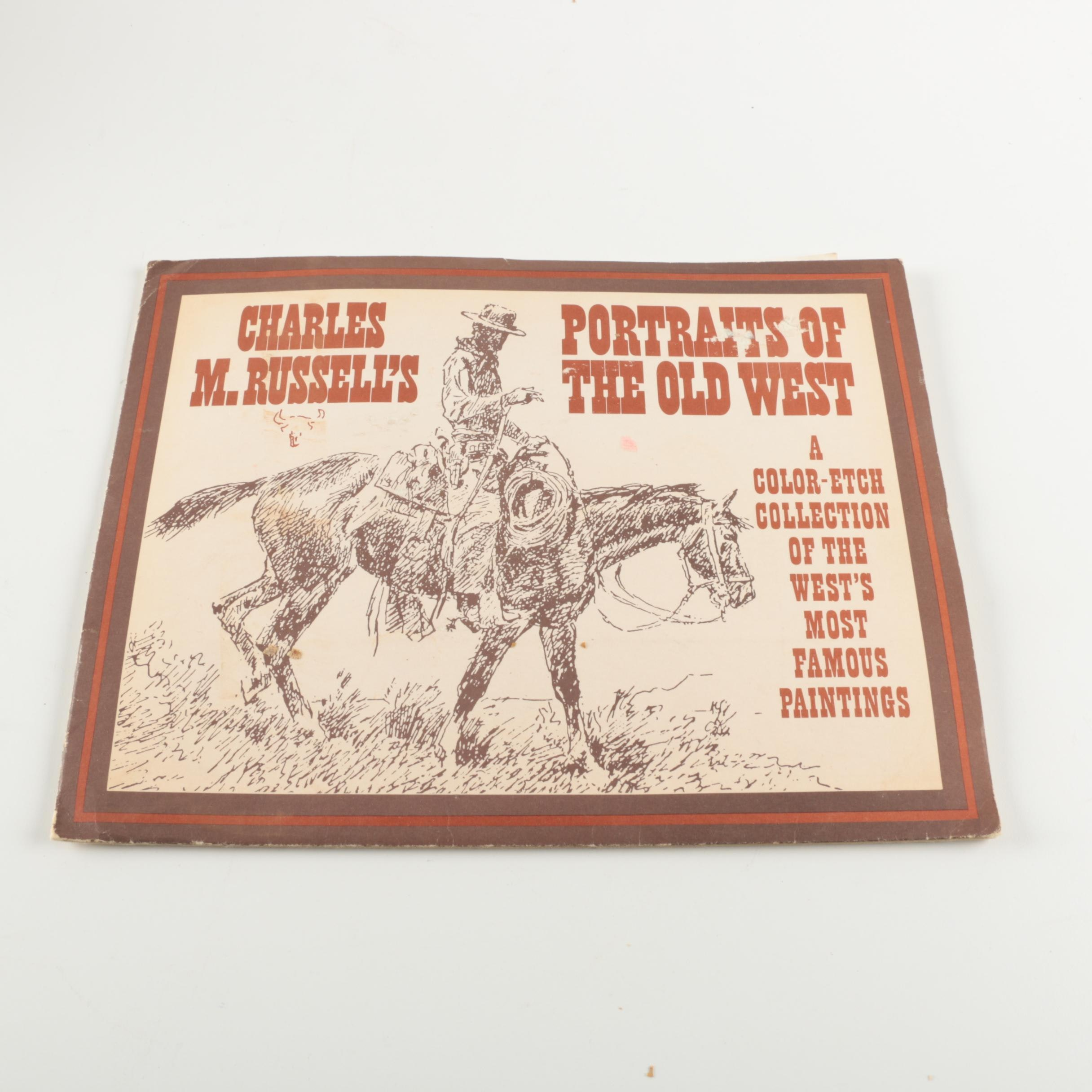 """Charles M. Russell's Portraits of the Old West"" Foil Color-Etch Print Portfolio"