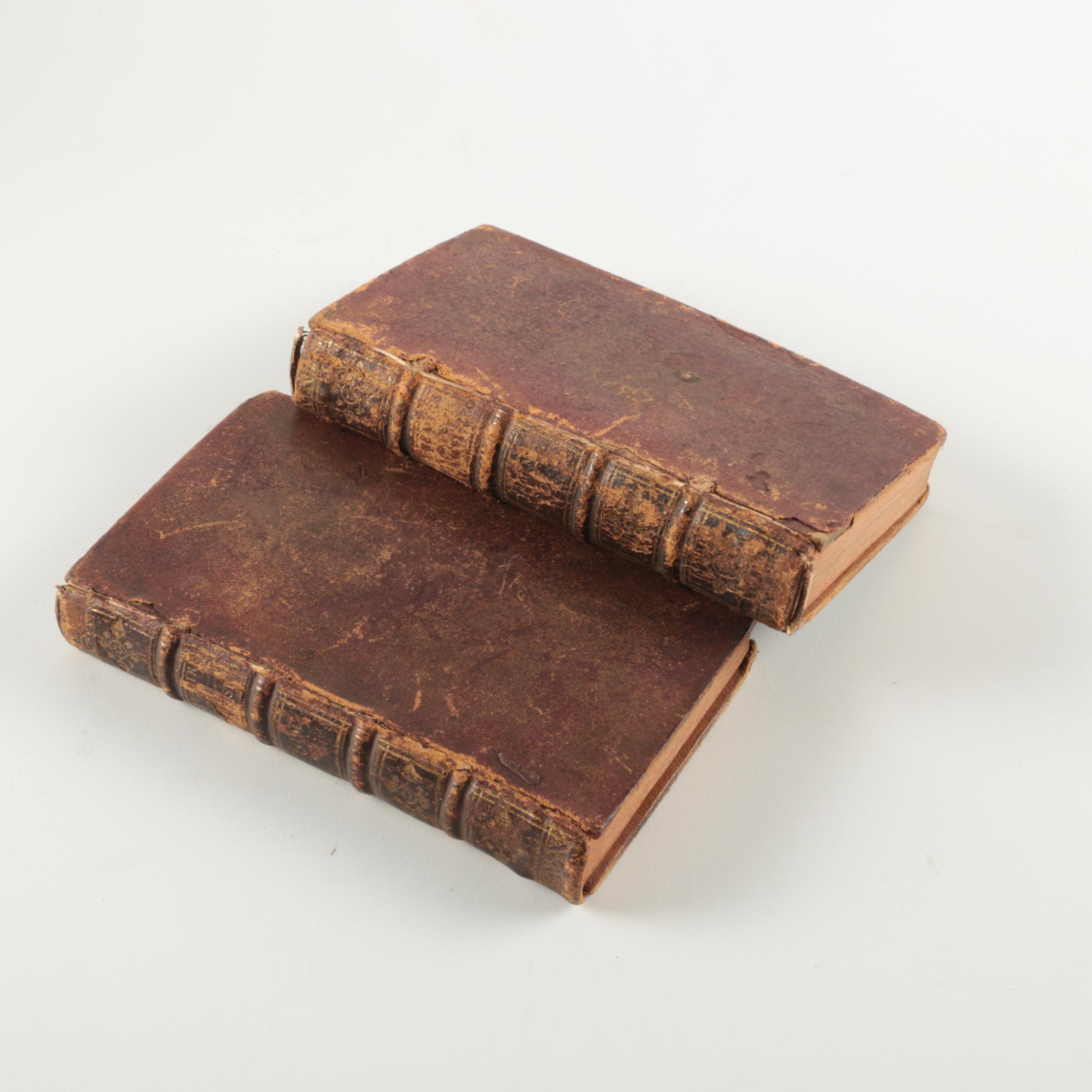"""1722 """"Oeuvres de Monsieur Campistron"""" in Two Volumes"""