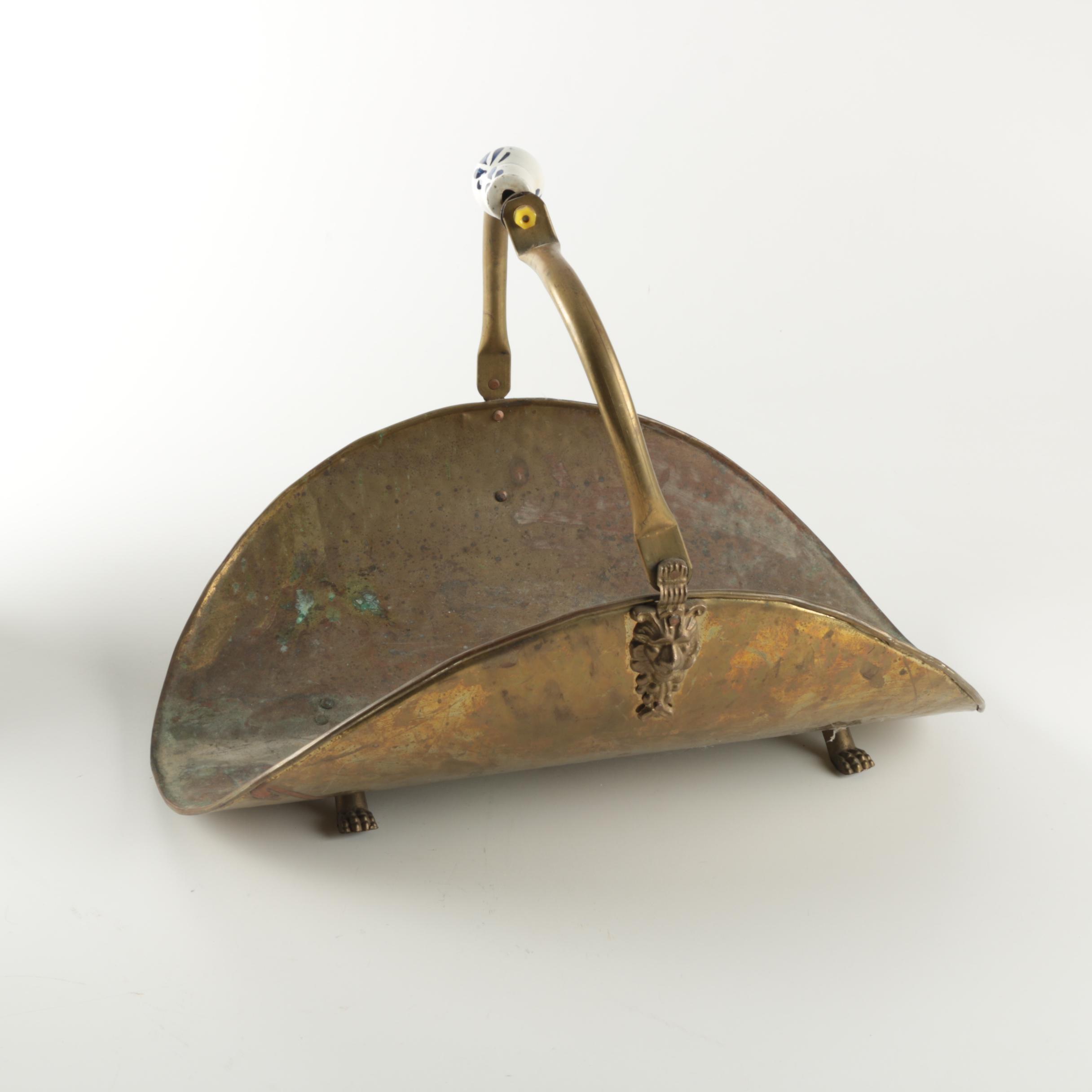 Vintage Brass Log Holder