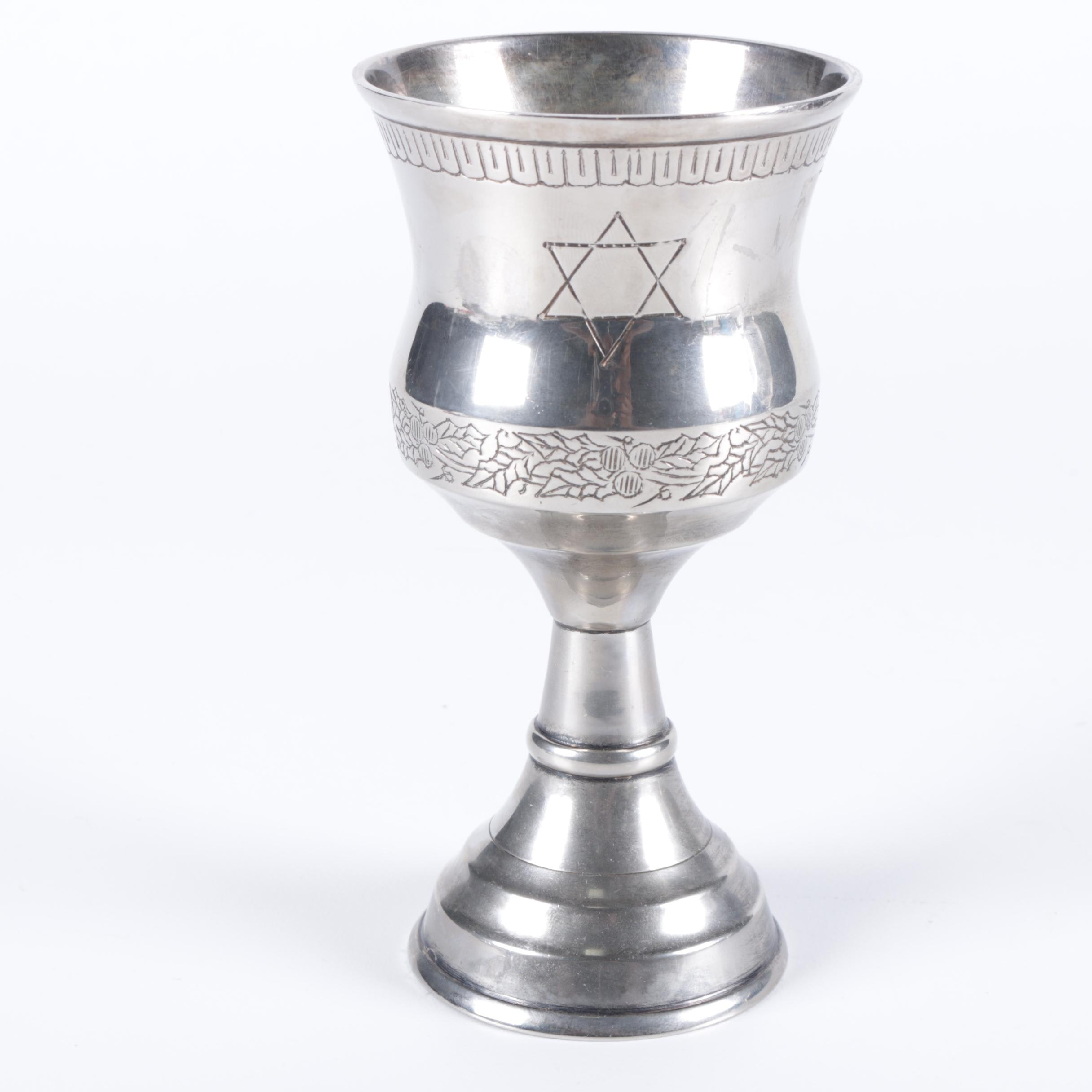 Silver-Plated Kiddush Cup
