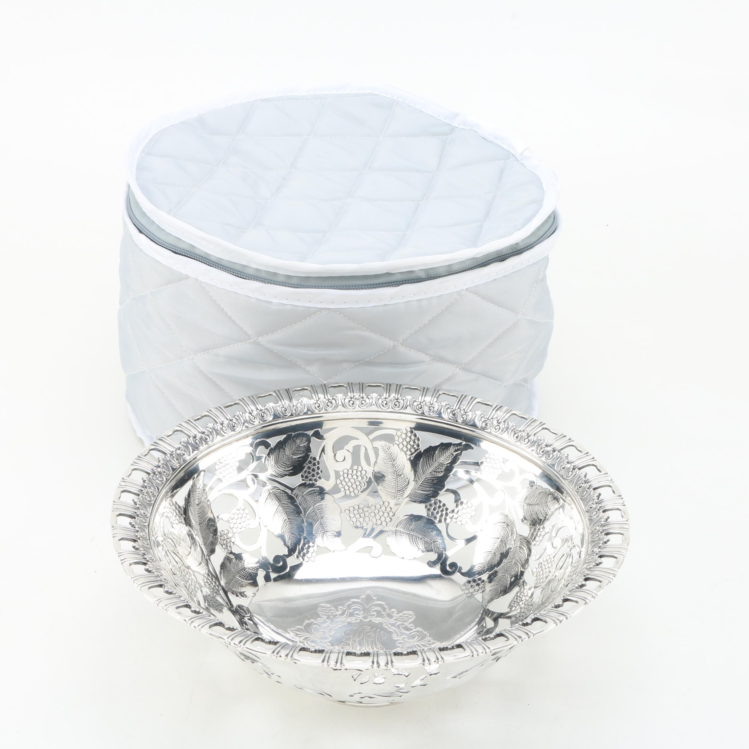 Antique Tiffany & Co. Monogrammed Sterling Silver Openwork Bowl