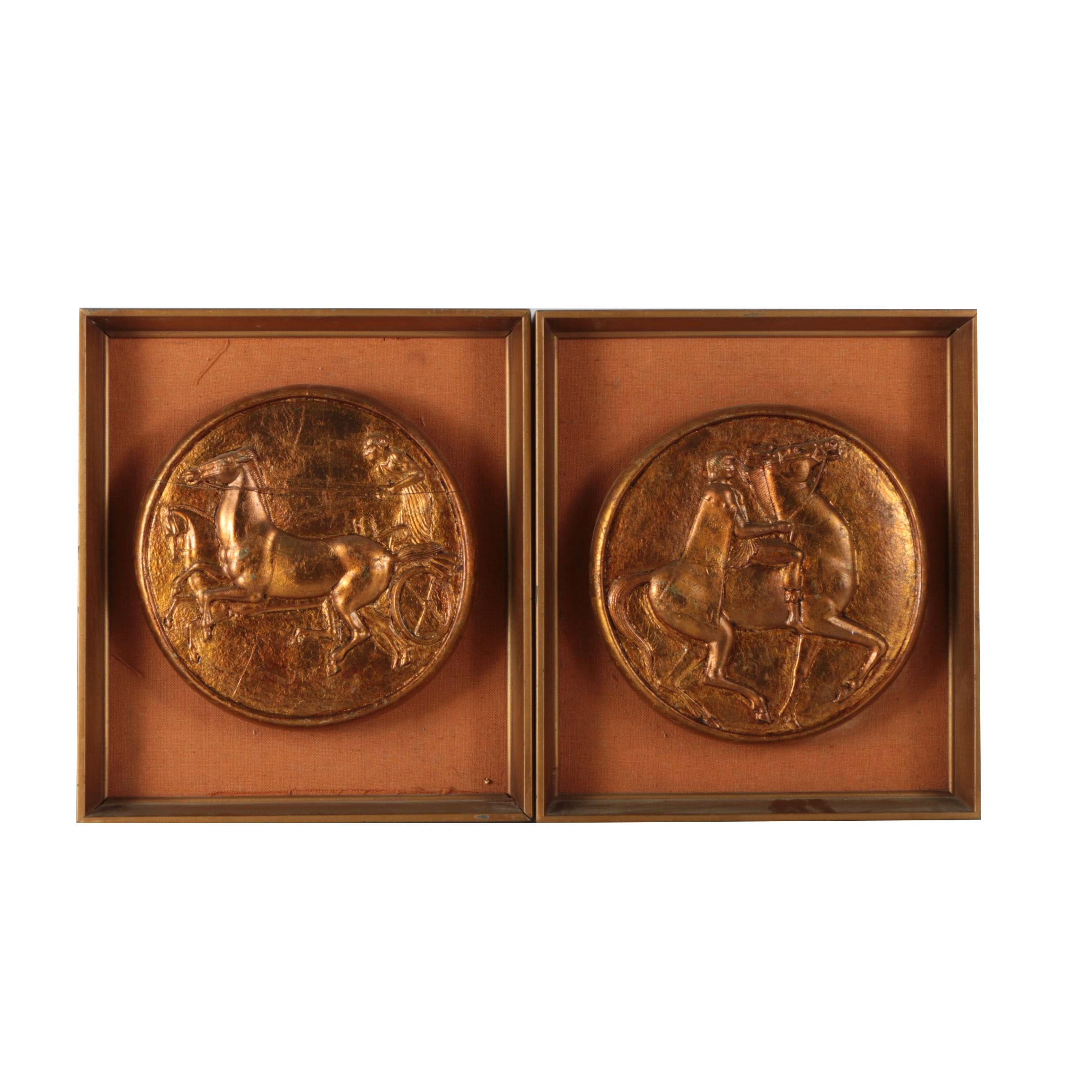 Decorative Gold Tone Plaster Medallions