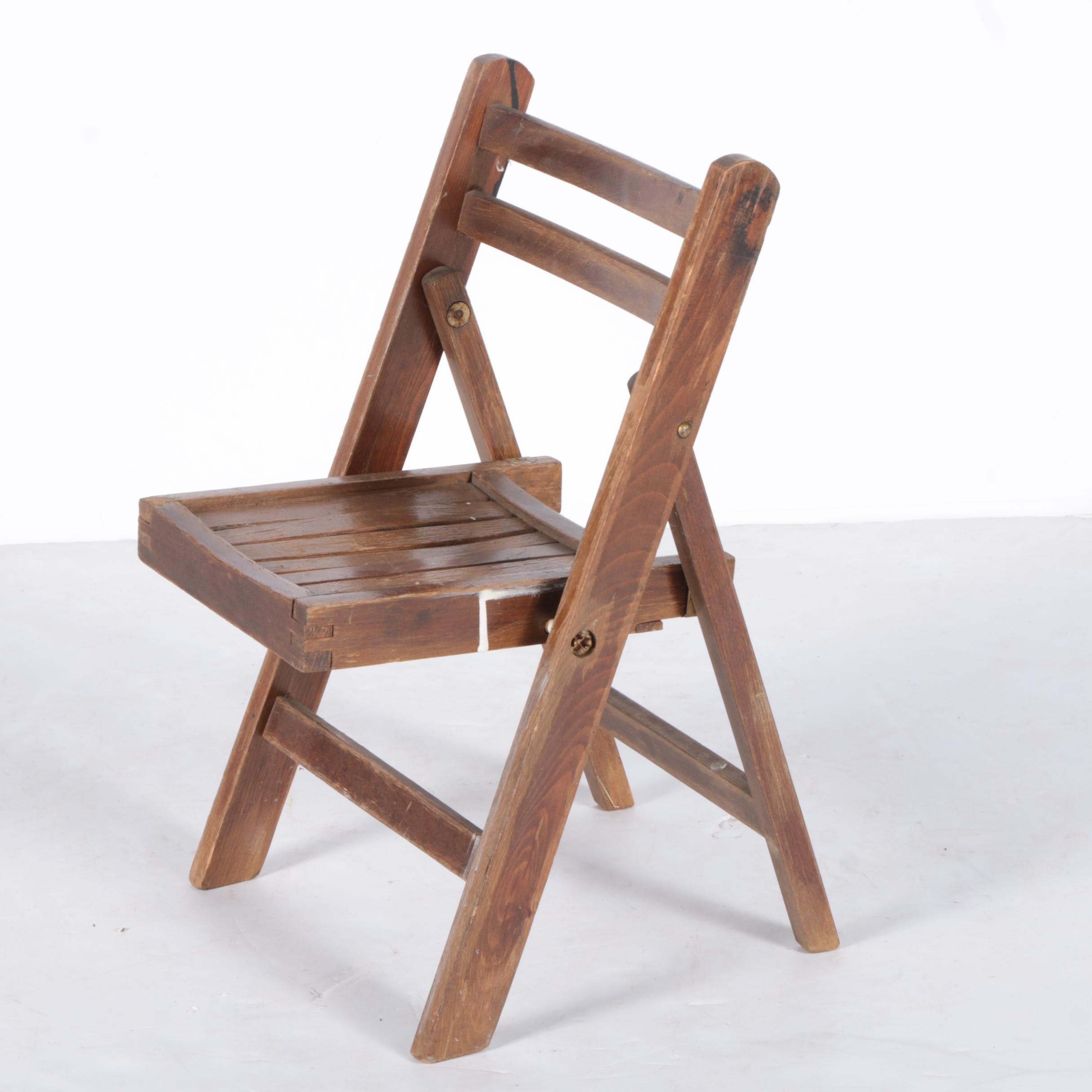 Wooden Children's Folding Chair