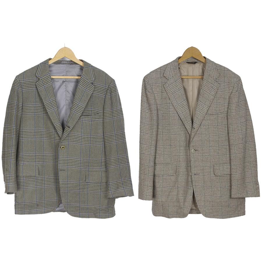 Men's Houndstooth Check Sport Coats