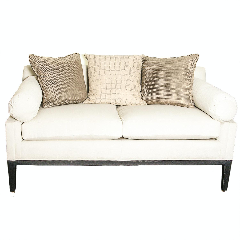 Cream Upholstered Loveseat by Fairfield