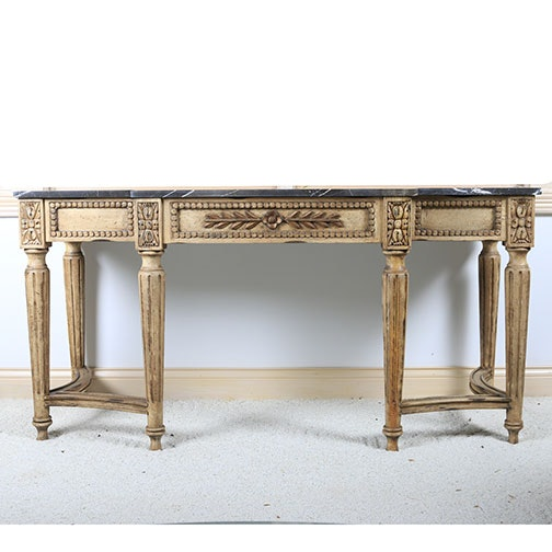 Italian Neoclassical Style Marble Top Console Table