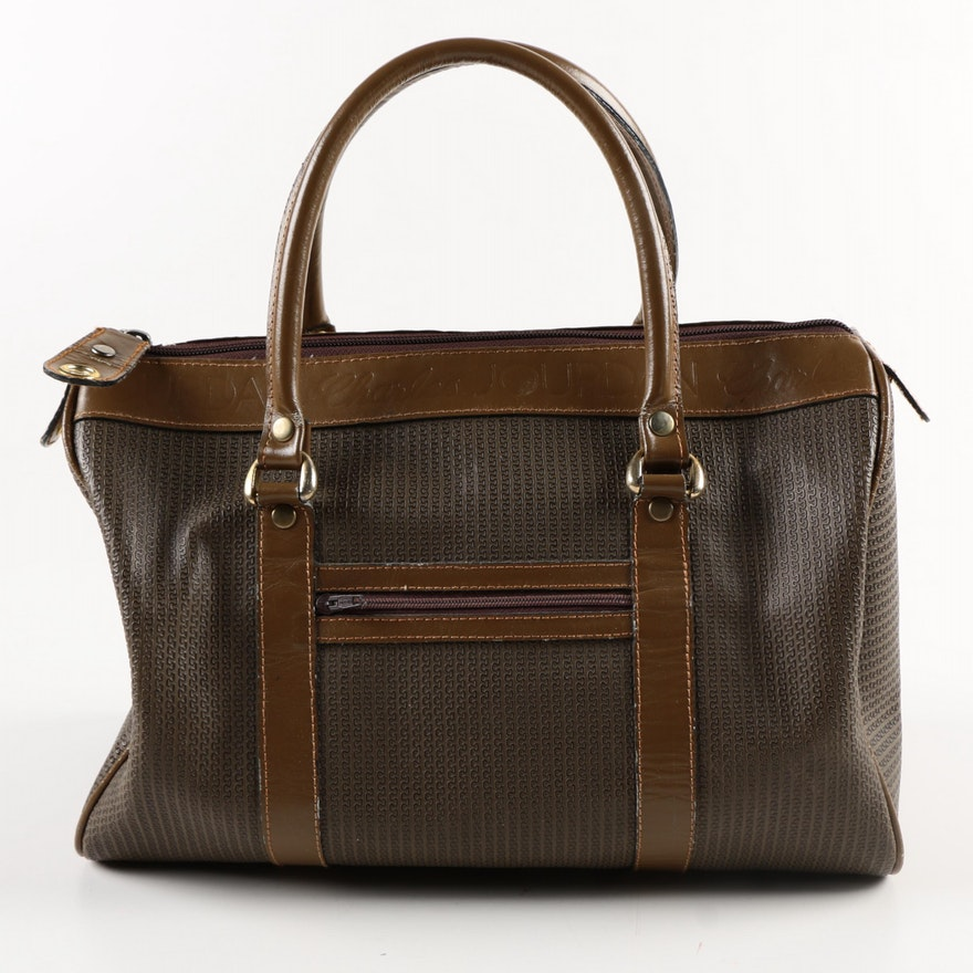 Vintage Brown Leather Charles Jourdan Actif Collection Handbag