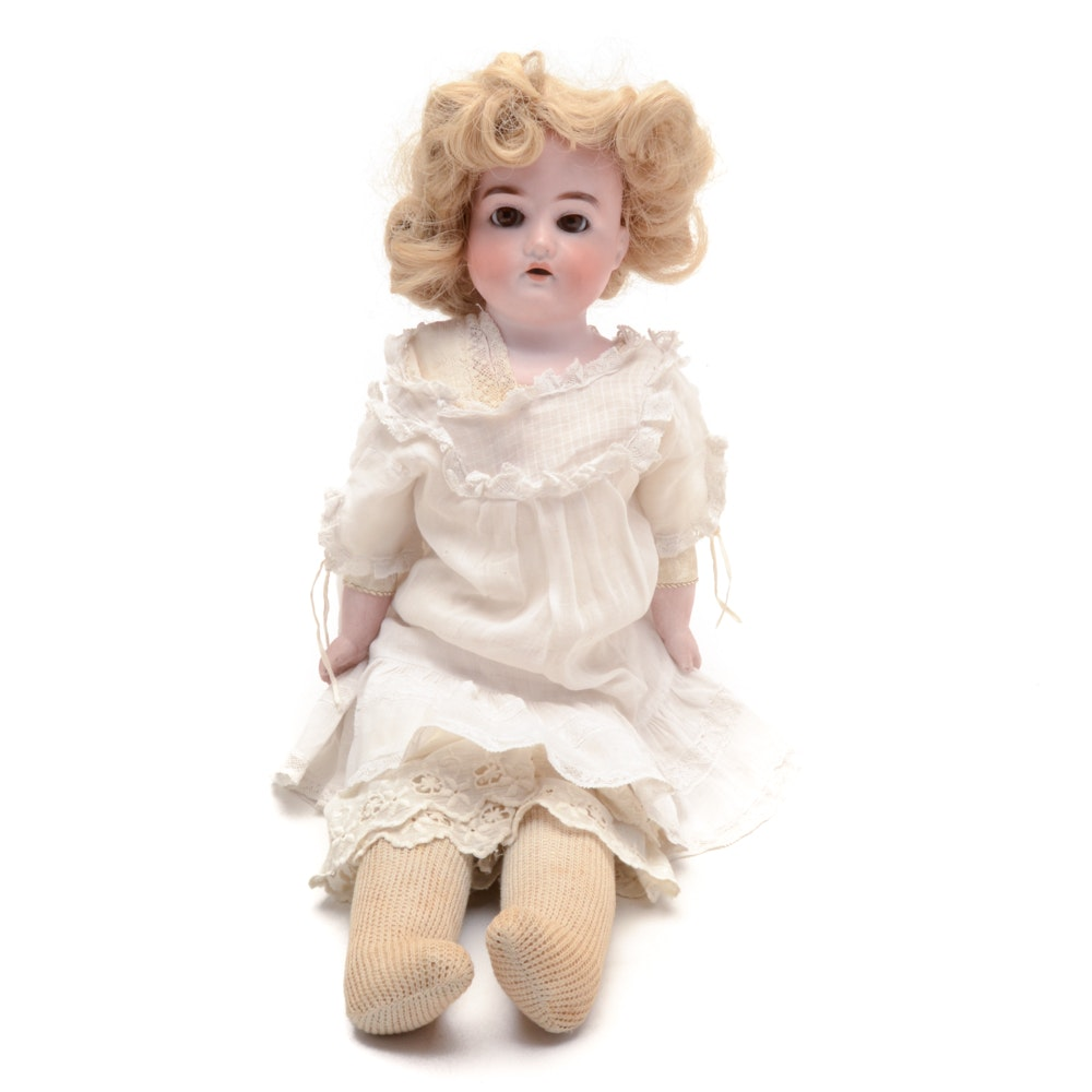 Turn Of The Century German Reconditioned Porcelain Doll Ebth