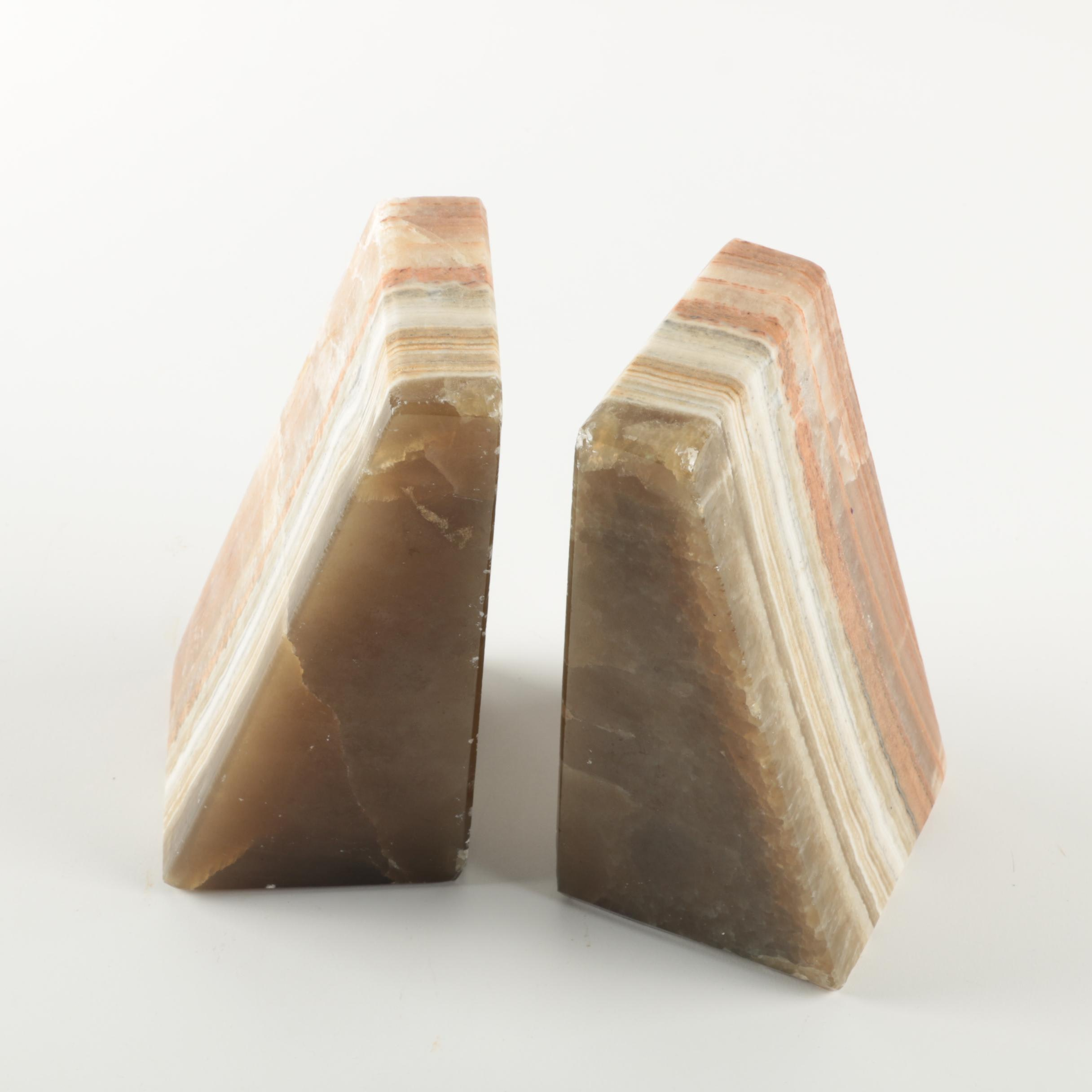Banded Calcite Bookends
