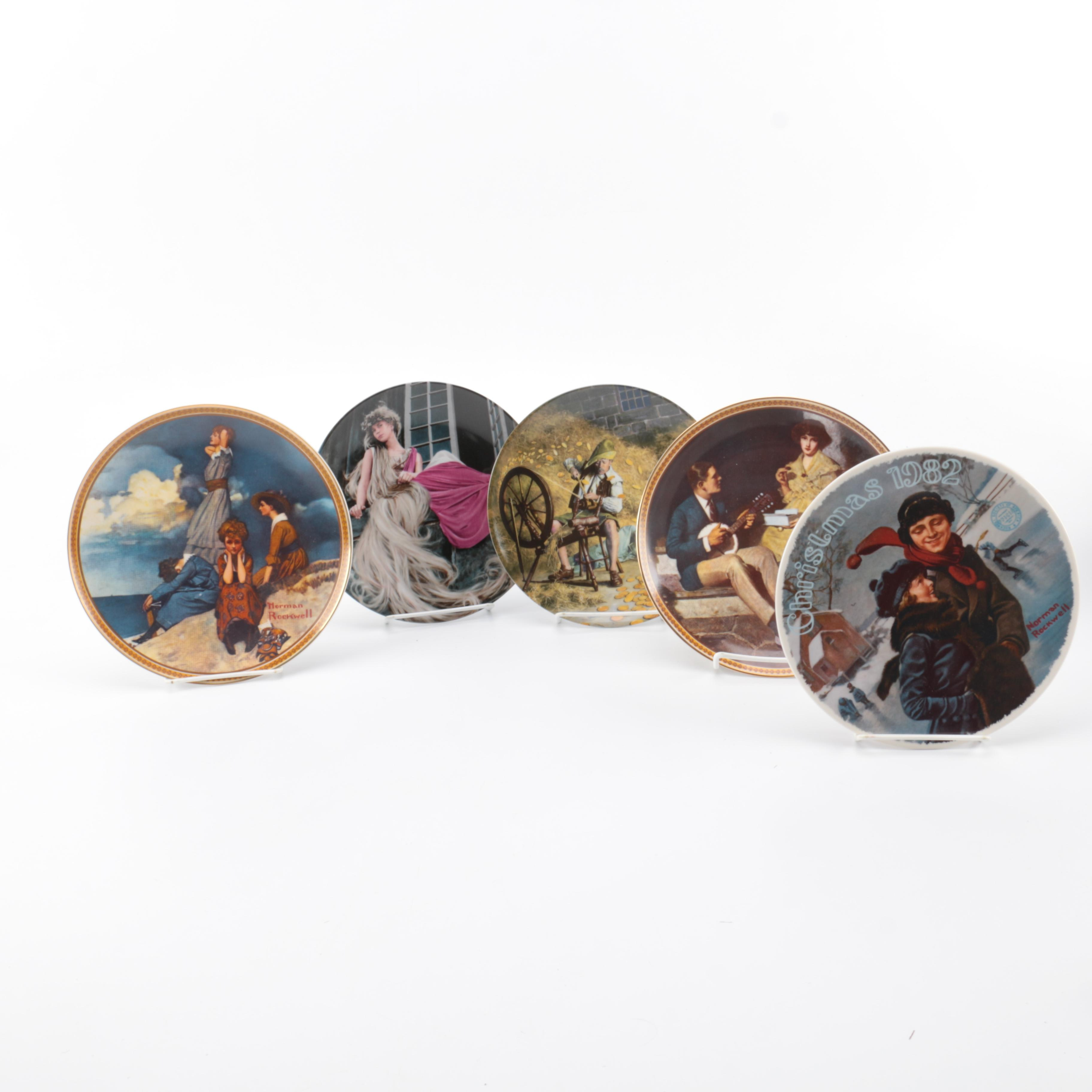 Charles Gehm and Normal Rockwell Collector's Plates