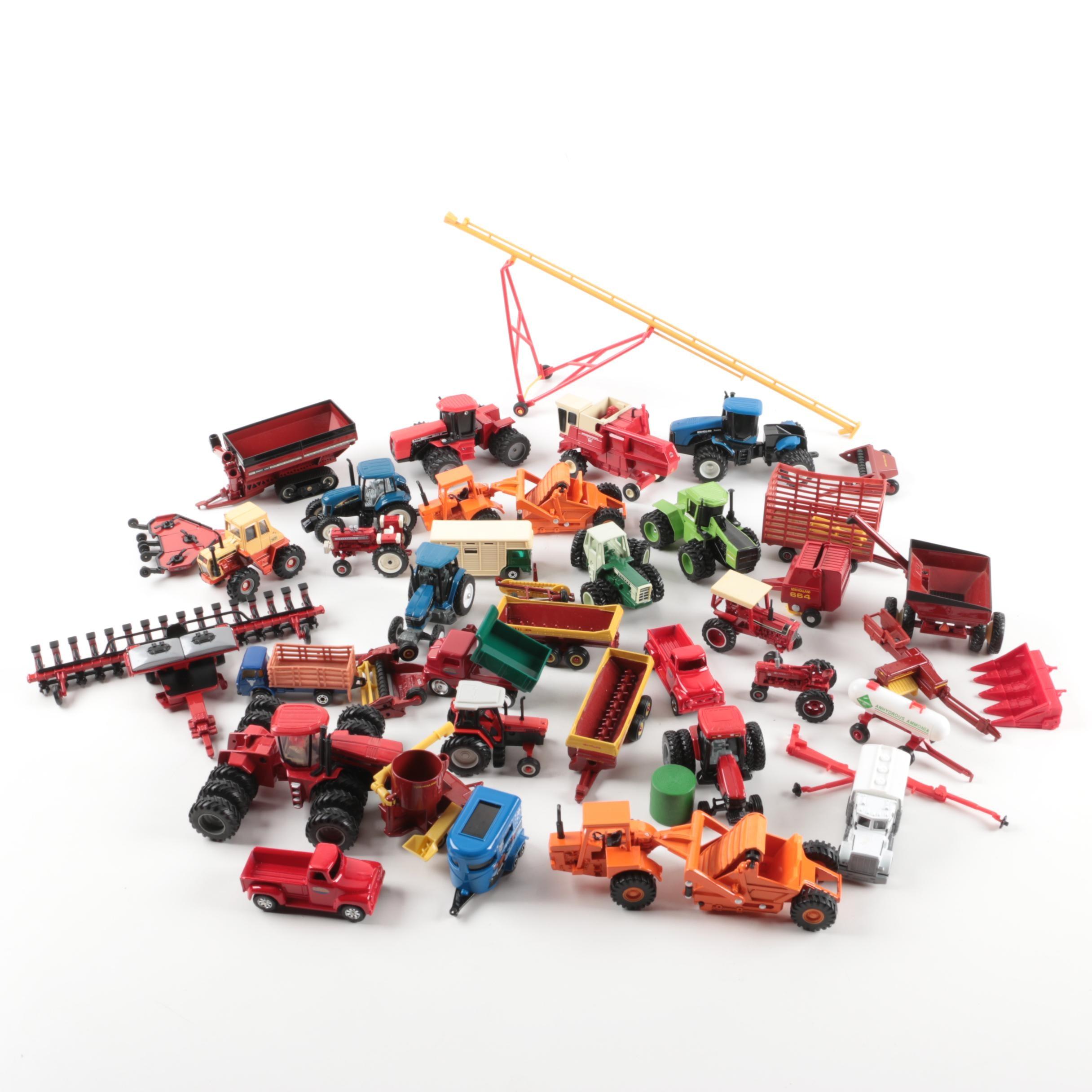 Assortment of Die-Cast Farm Vehicles
