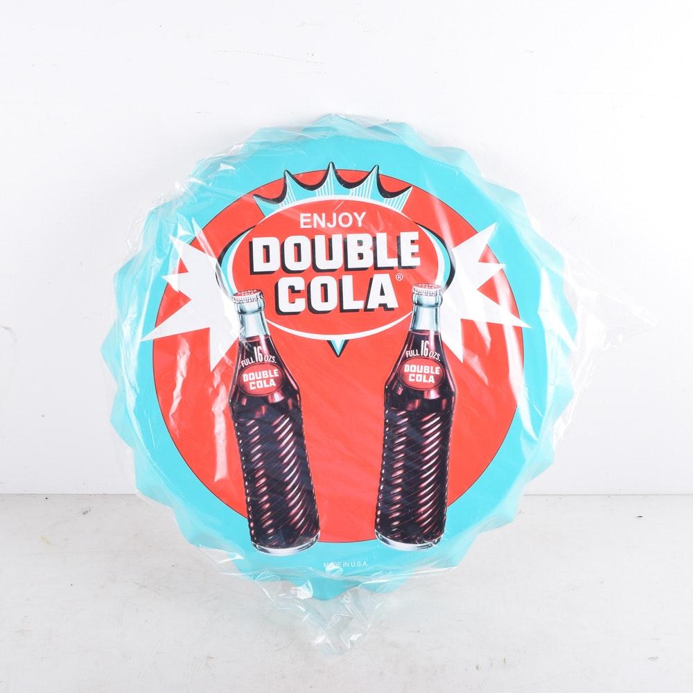 Double Cola Bottle Cap Sign