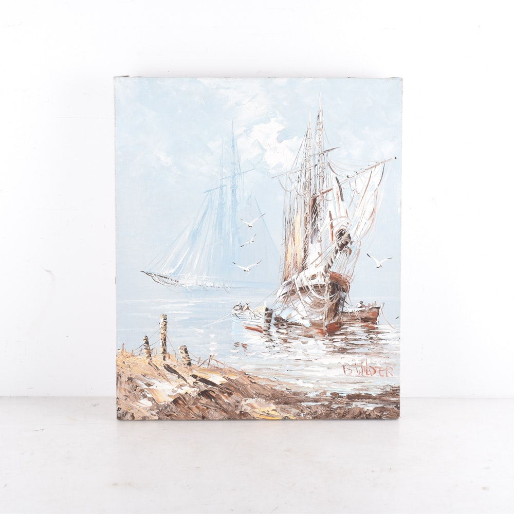 B. Wilder Oil Painting of Boats