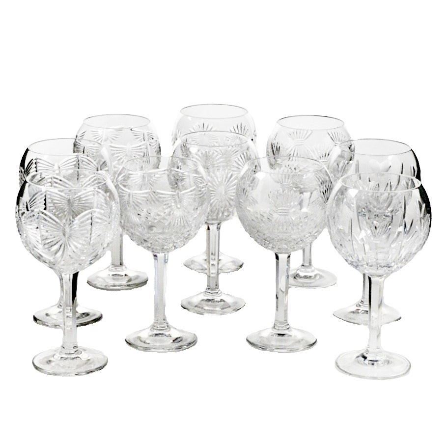 Ten Waterford Crystal Toasting Hocks from the 'Universal Wishes Collection""