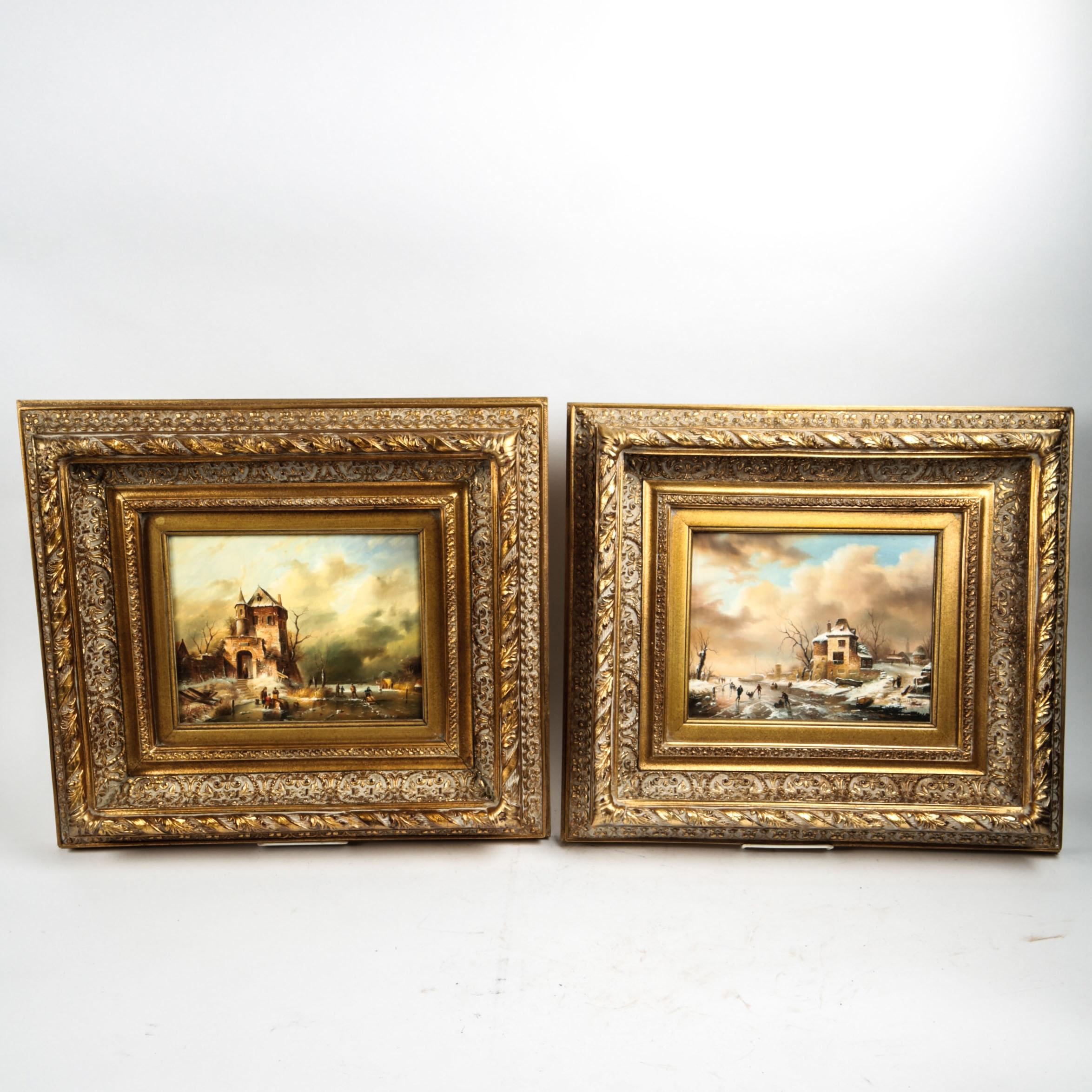 Pair of Henry Ramirez Jr. Signed Oil Paintings