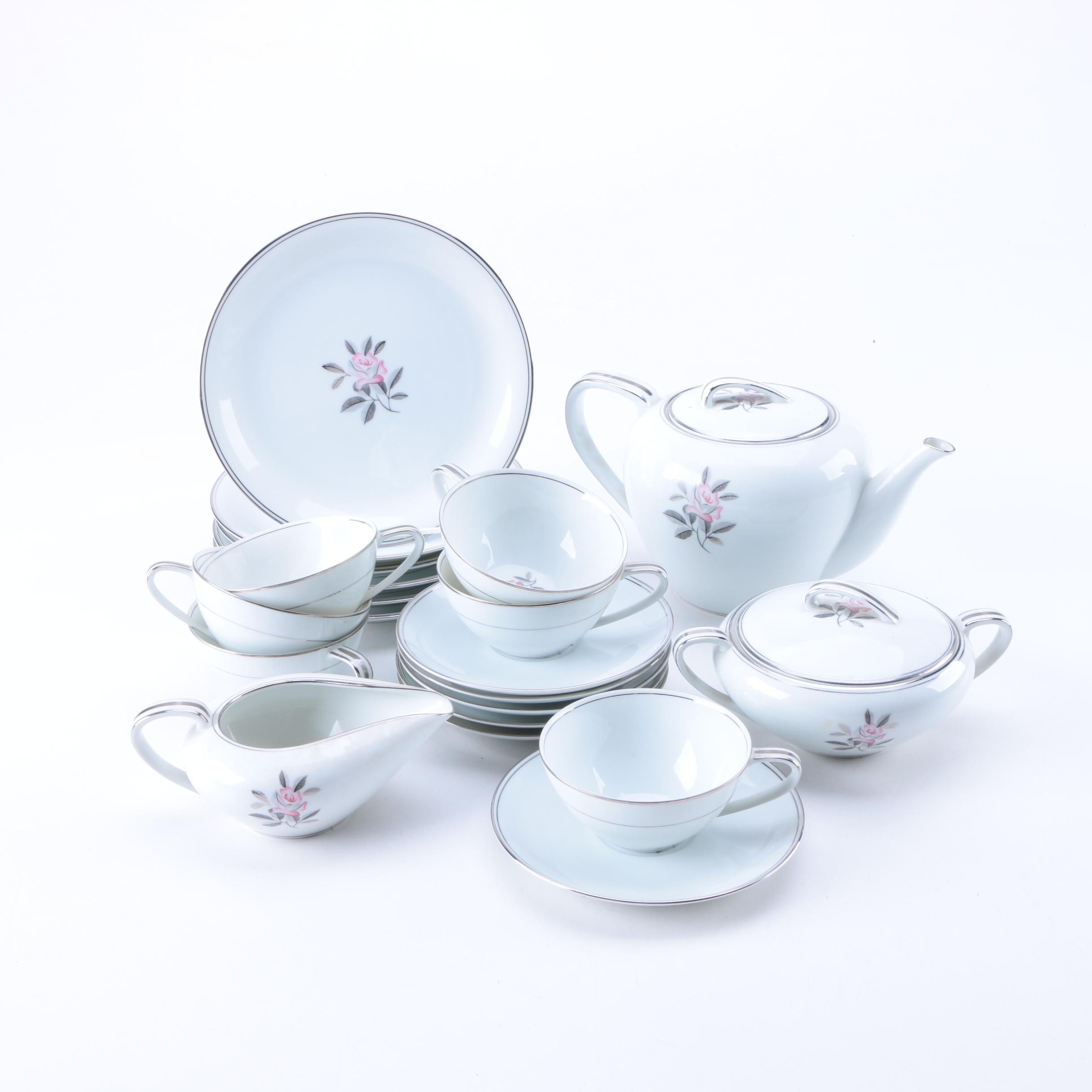 Set of Noritake  Rosales  Porcelain Tableware ...  sc 1 st  EBTH.com & Set of Noritake