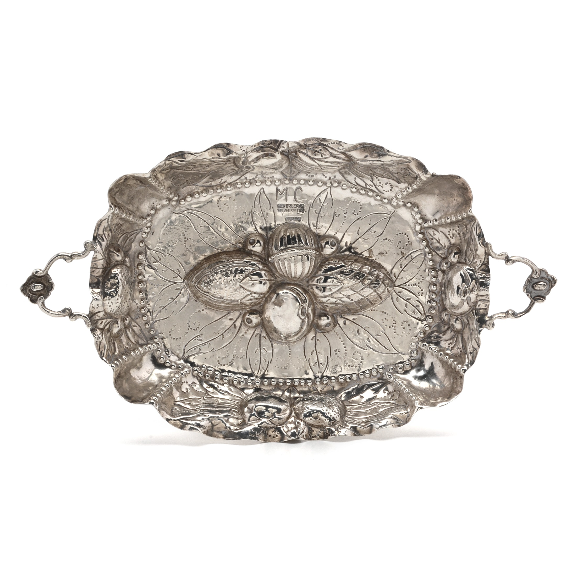 New Orleans Silversmiths Sterling Silver Nut Dish