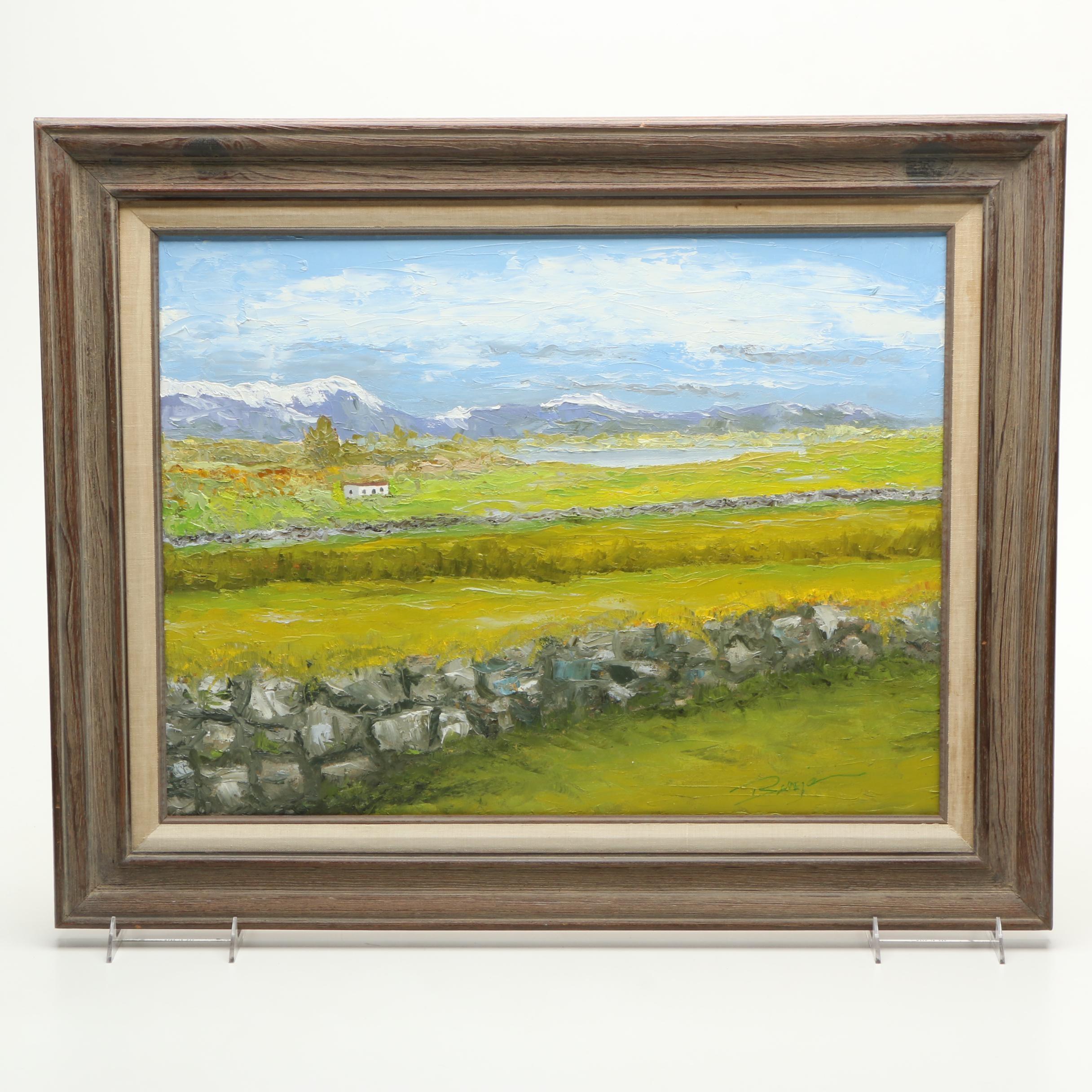 Ben Benjamin Oil on Canvas Landscape Painting