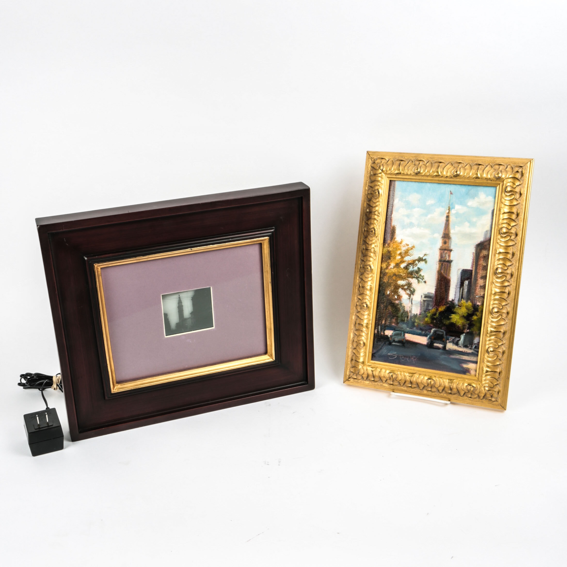 Oil Painting and Light-Up Art Featuring Daniels & Fisher Tower, Denver