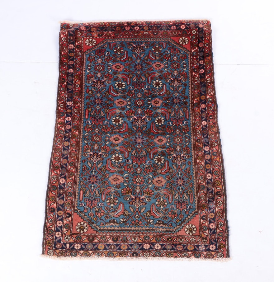Hand Knotted Persian Wool Area Rug Ebth