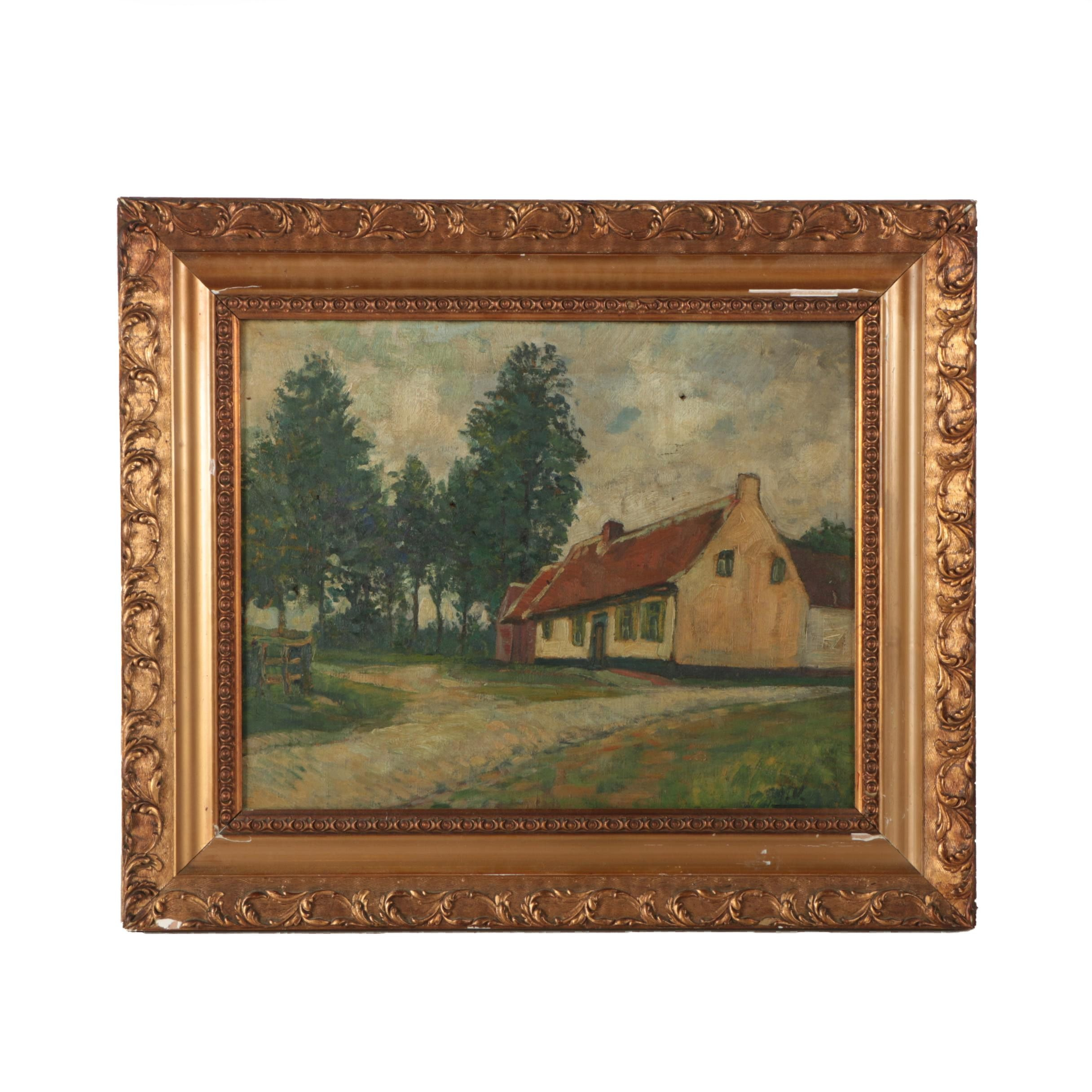 Original Oil Painting on Canvas of a Rural Landscape