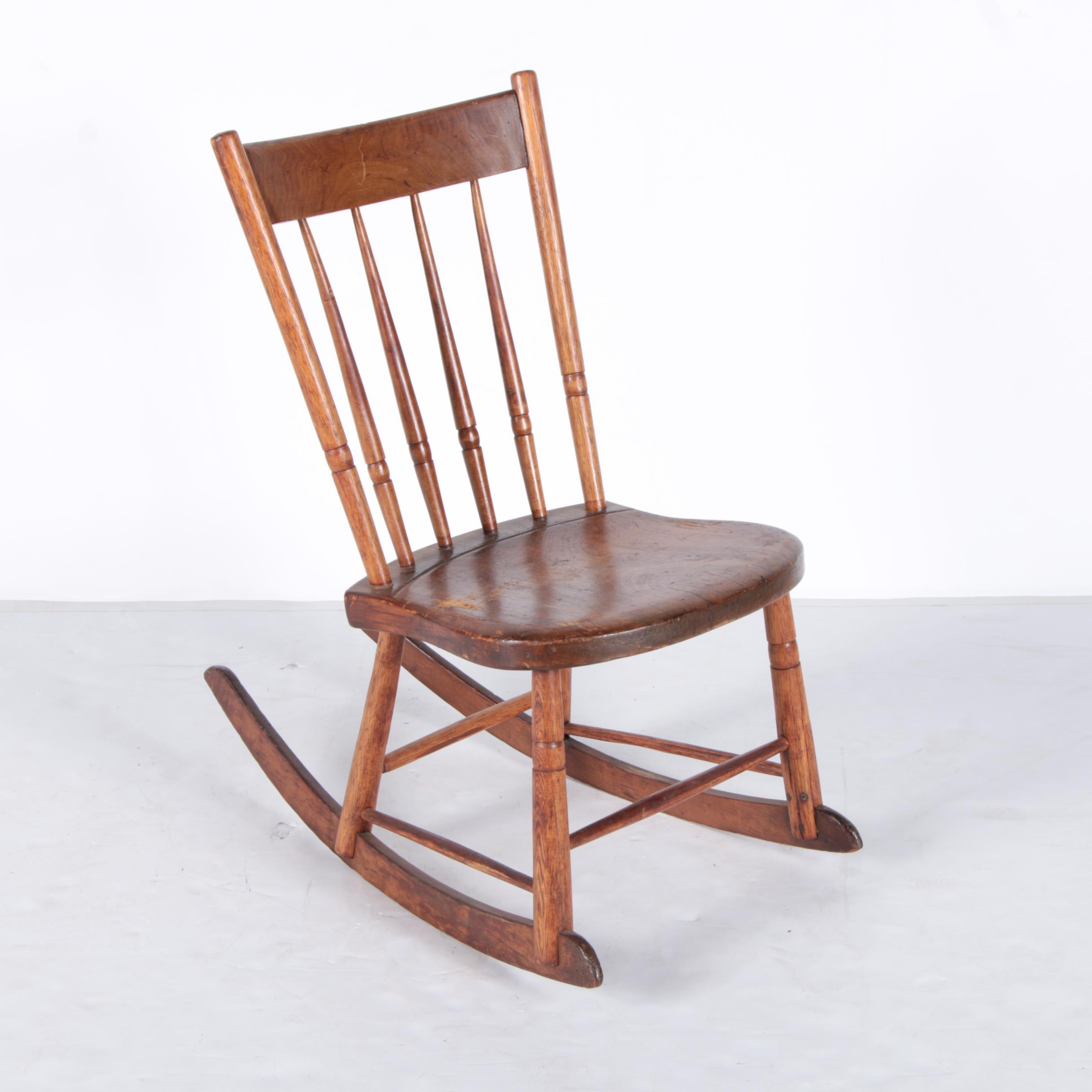 Oak Windsor Style Rocking Chair ...