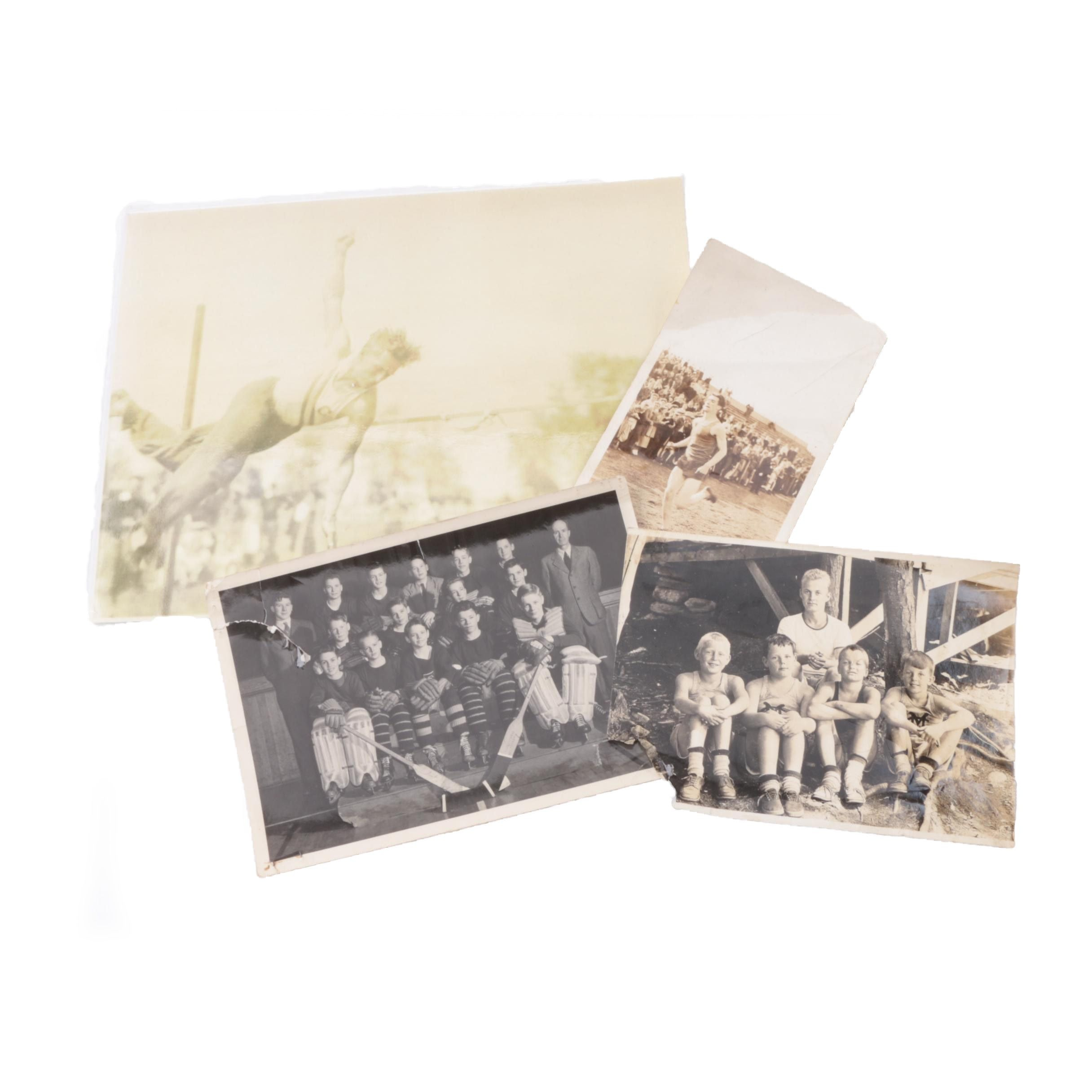Vintage Gelatin Silver Photographs of Athletes and Others