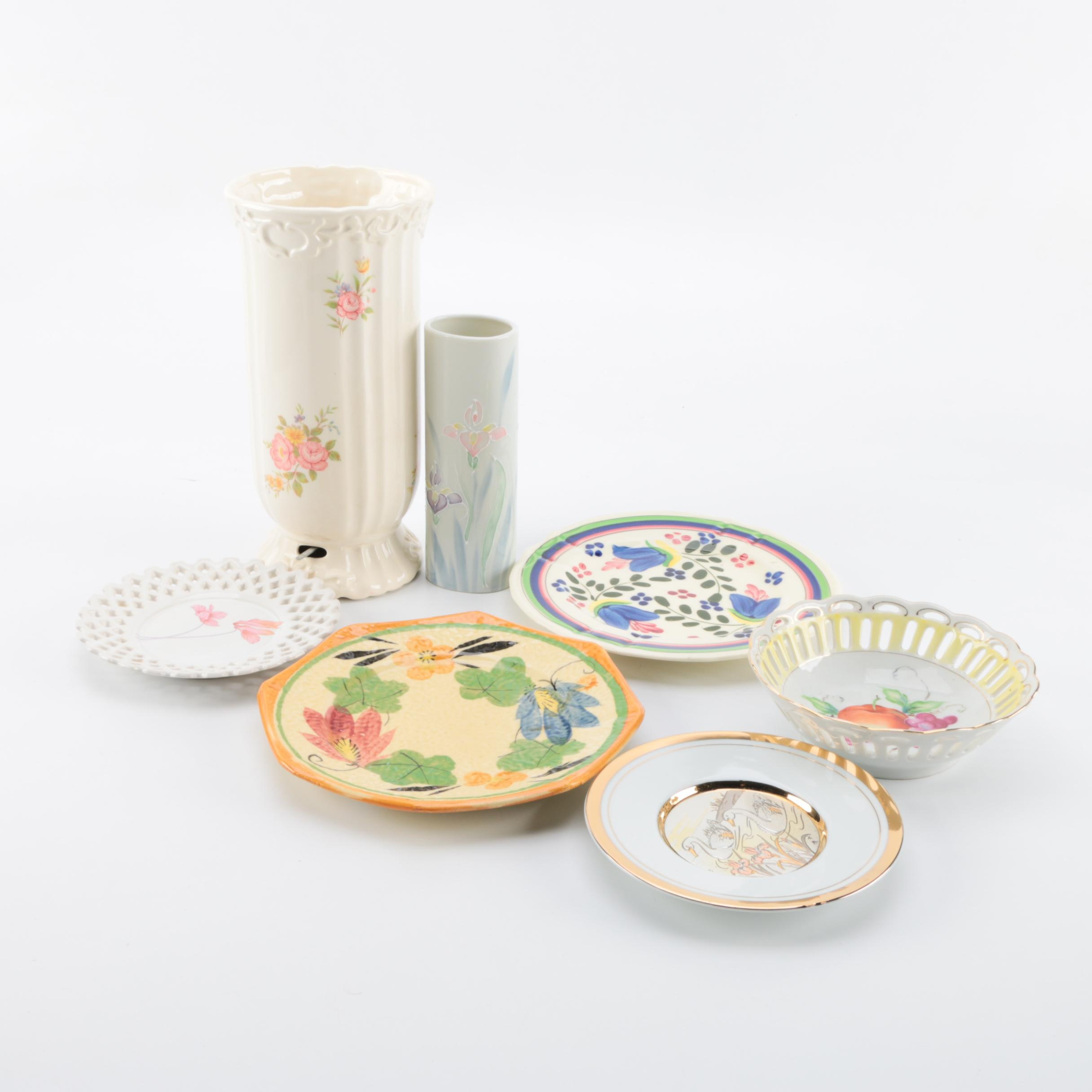Assortment of China and Porcelain Decorative Pieces