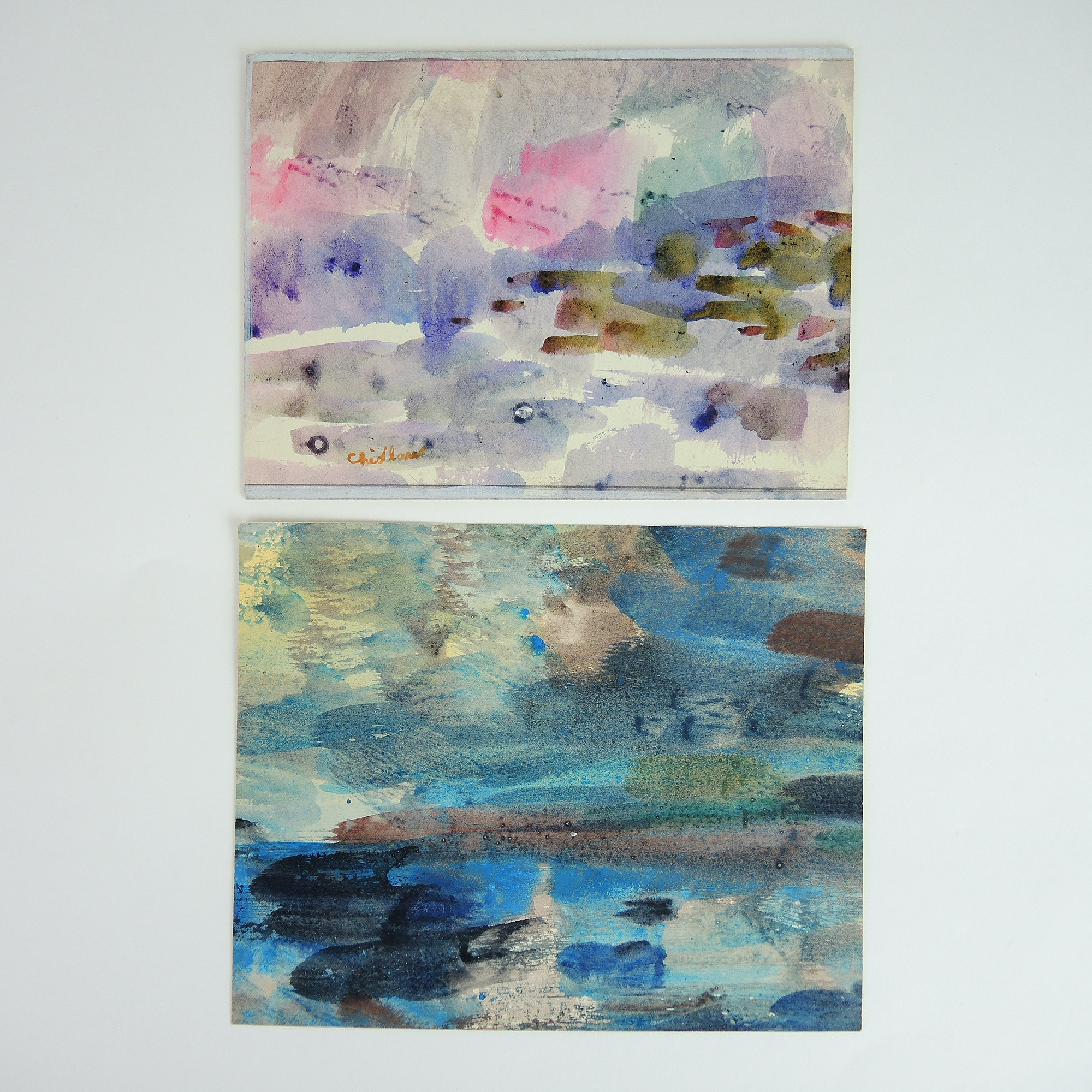 Paul Chidlaw Abstract Expressionism Seascapes