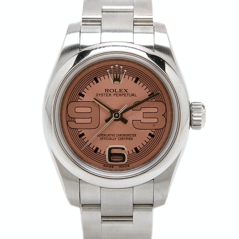 Rolex Perpetual Stainless Steel 176200 Pink Automatic Wristwatch