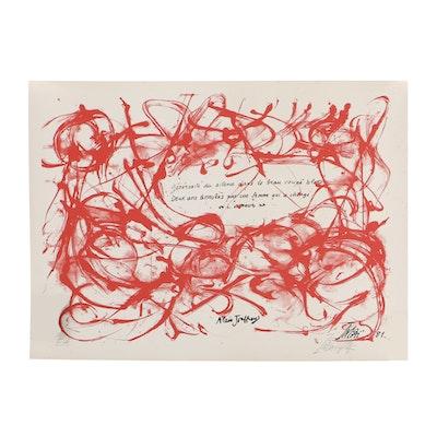 "Toshimitsu Imai Screen Print on Paper ""Alain Joffrey"""