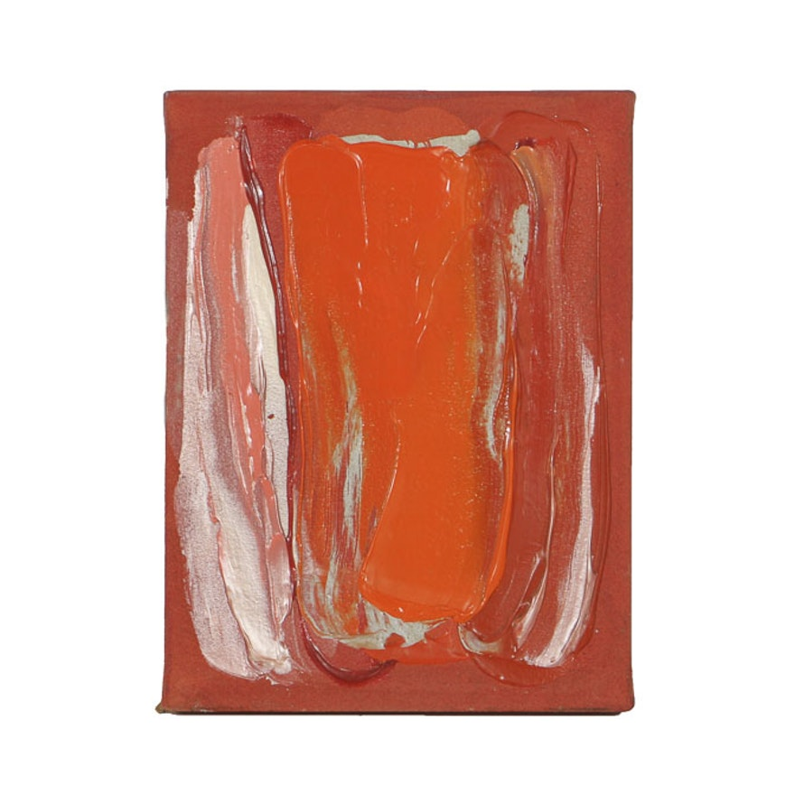 "Marjorie Minkin Acrylic Painting on Canvas ""Ace of Club"""