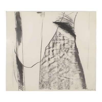 Michael Steiner Charcoal Drawing on Paper