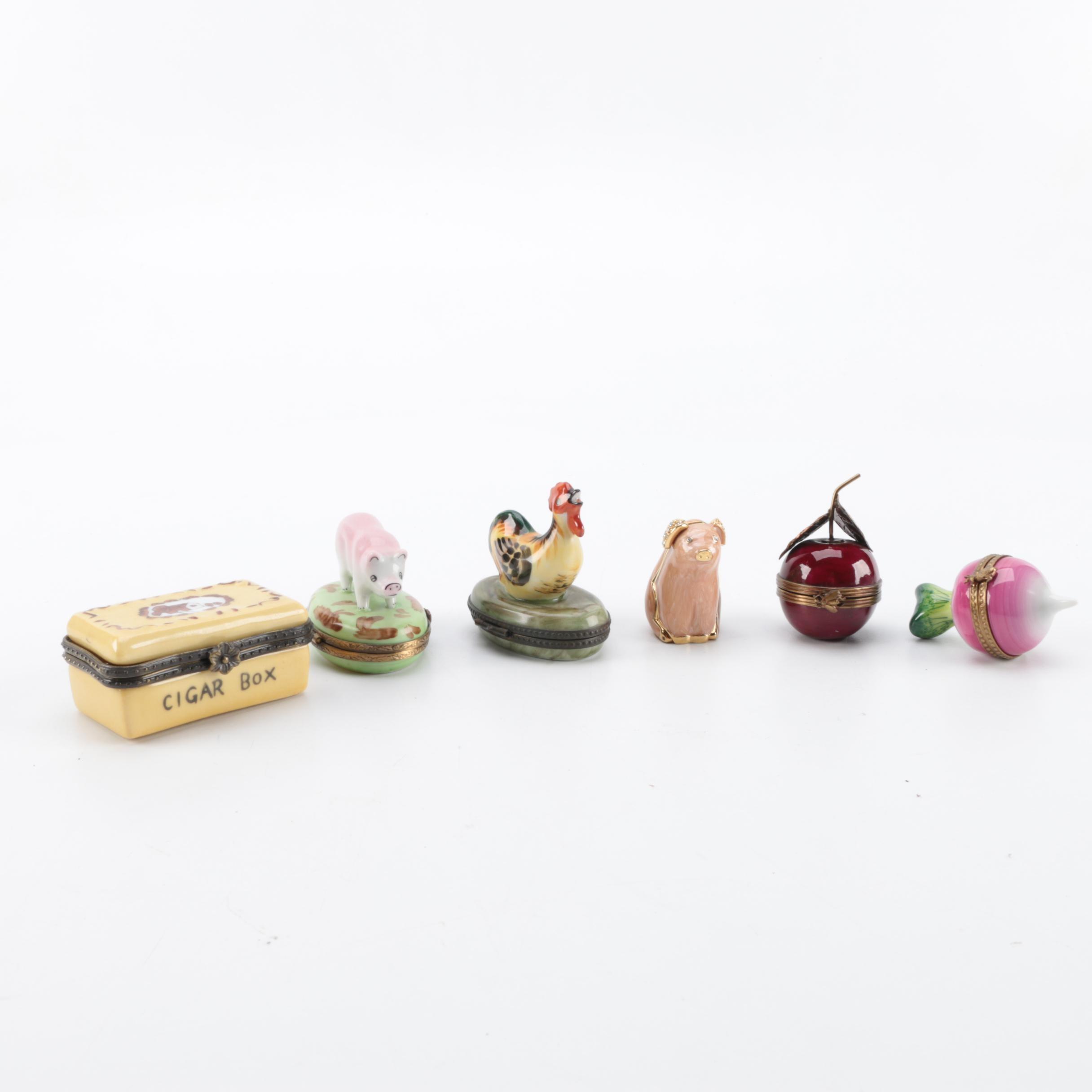 Limoges and Other Porcelain Trinket Boxes