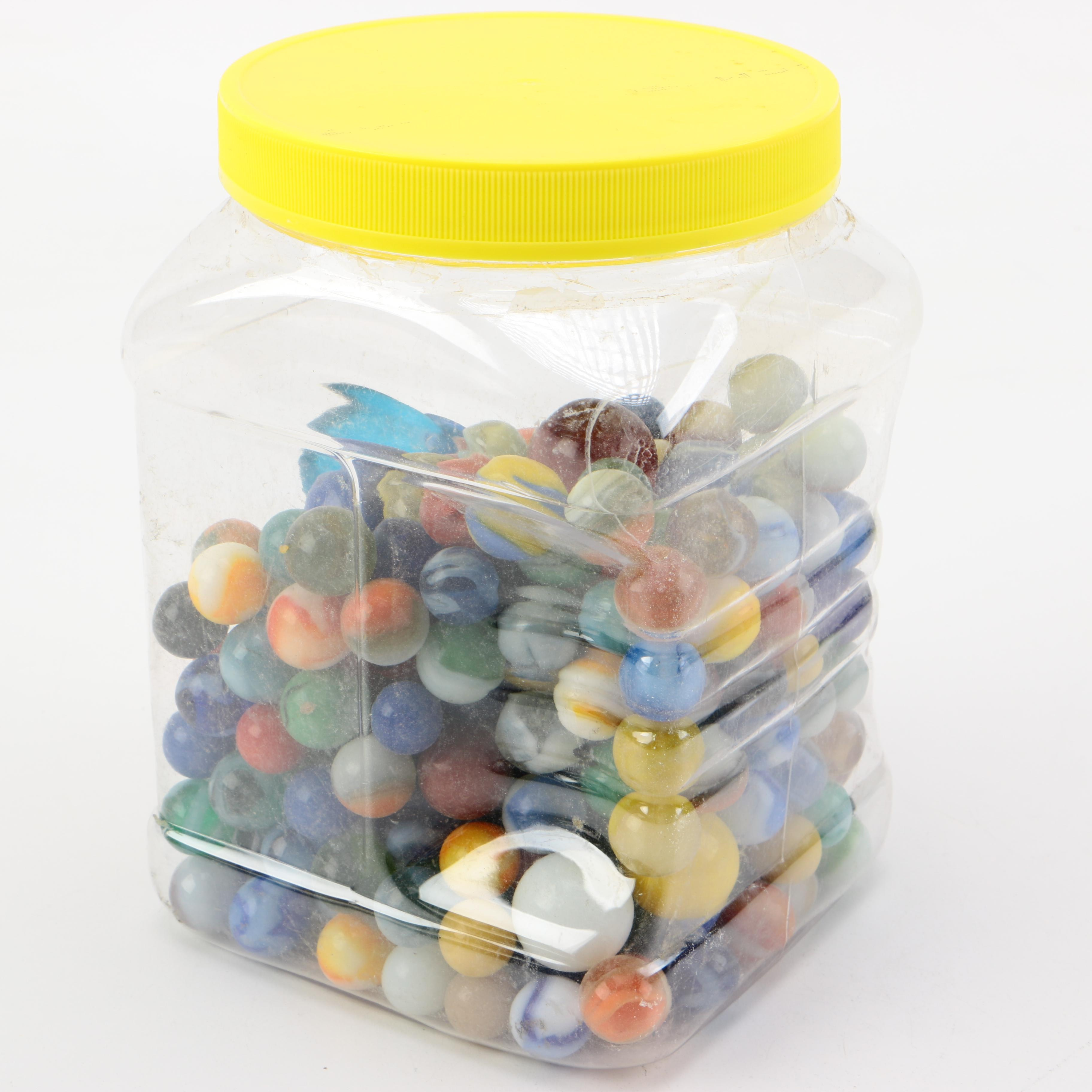 Container of Marbles