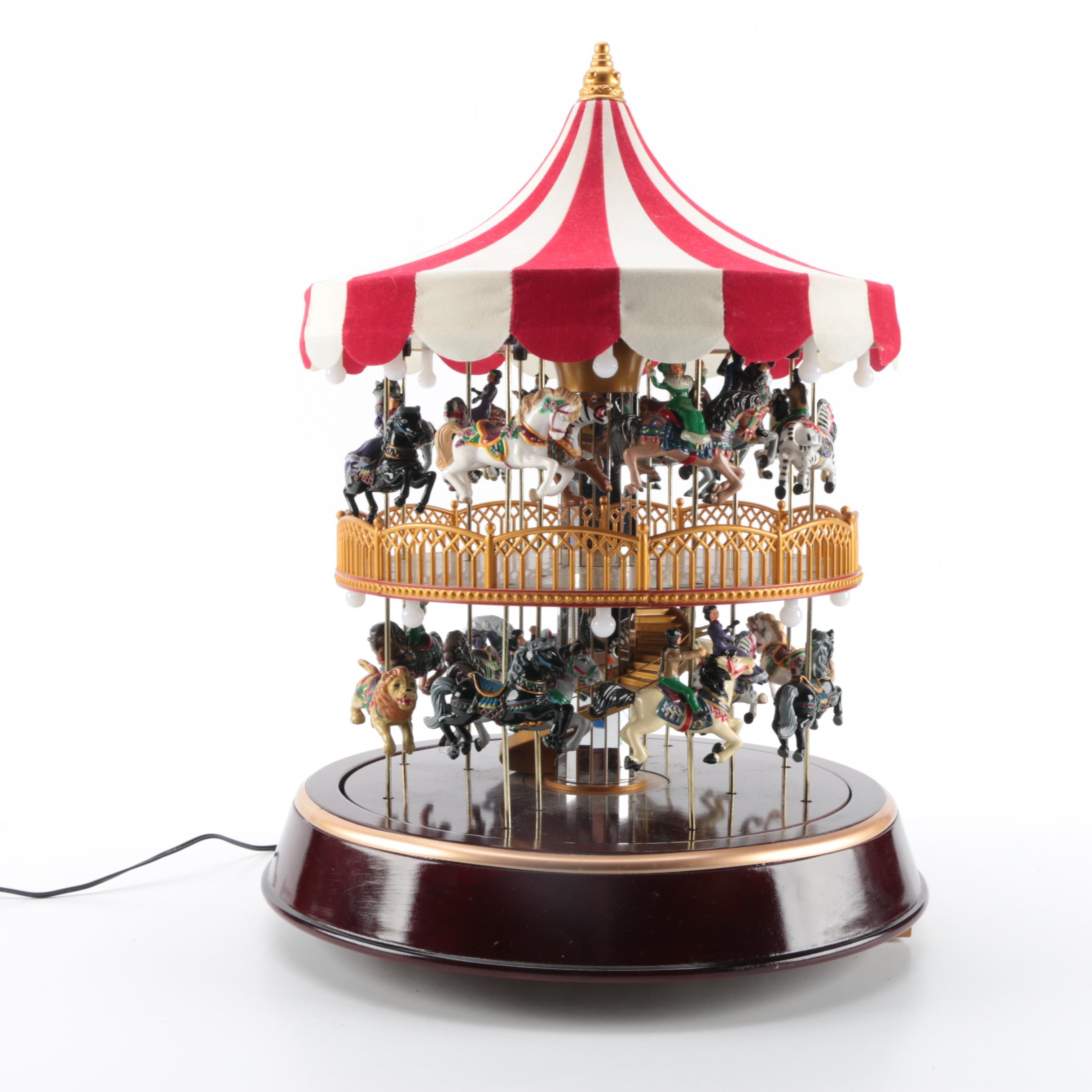Double Decker Carousel Music Box