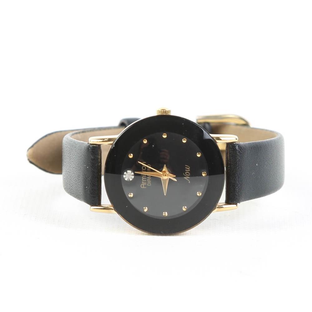 Armitron Gold Tone Diamond NOW Accent Wristwatch