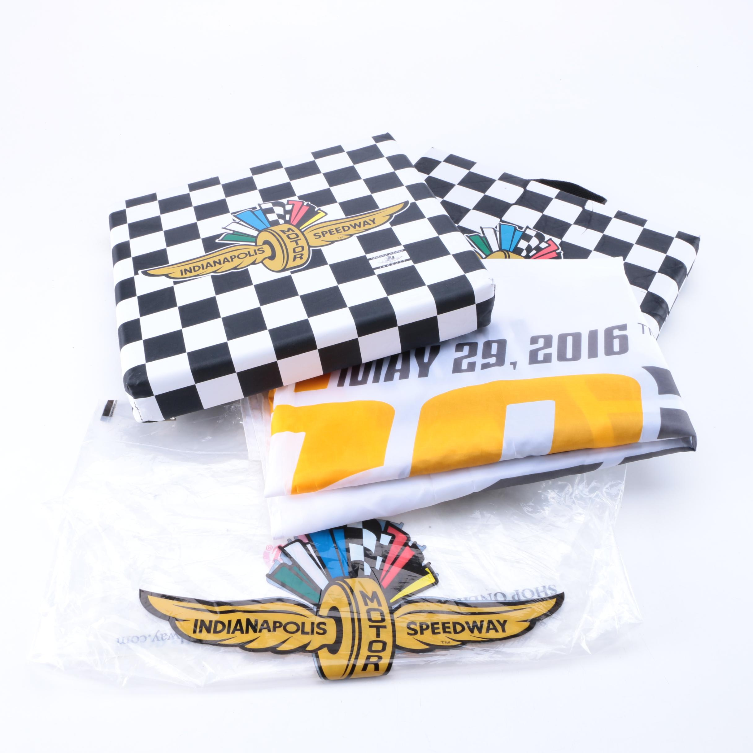 Indy 500 Flag and Seat Cushions