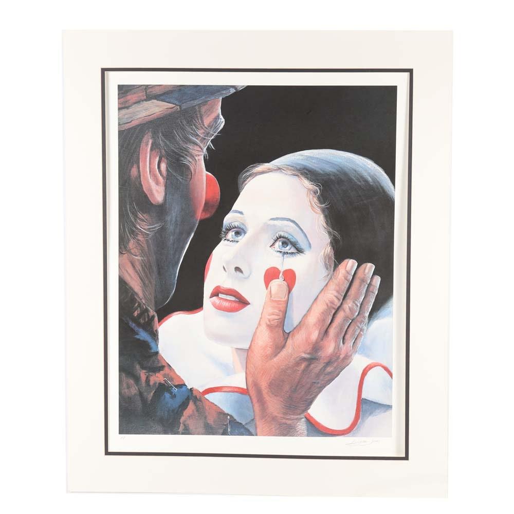 "Leighton Jones Artist Proof Offset Lithograph ""Helping Hand"""